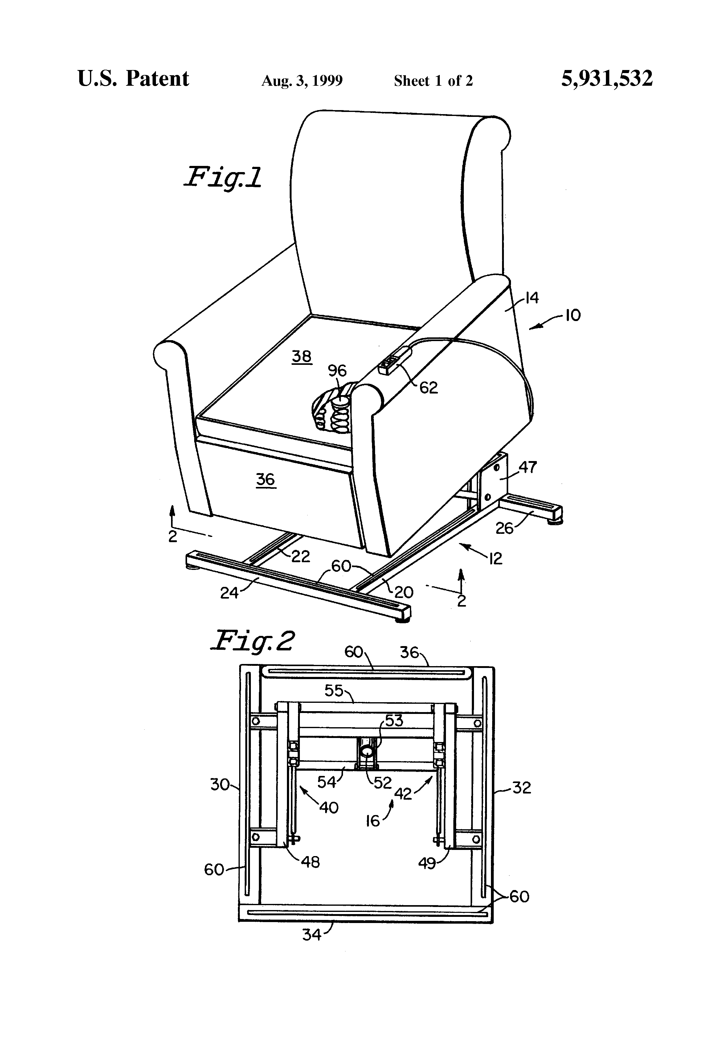 Patent US Lift recliner chair with safety system Google