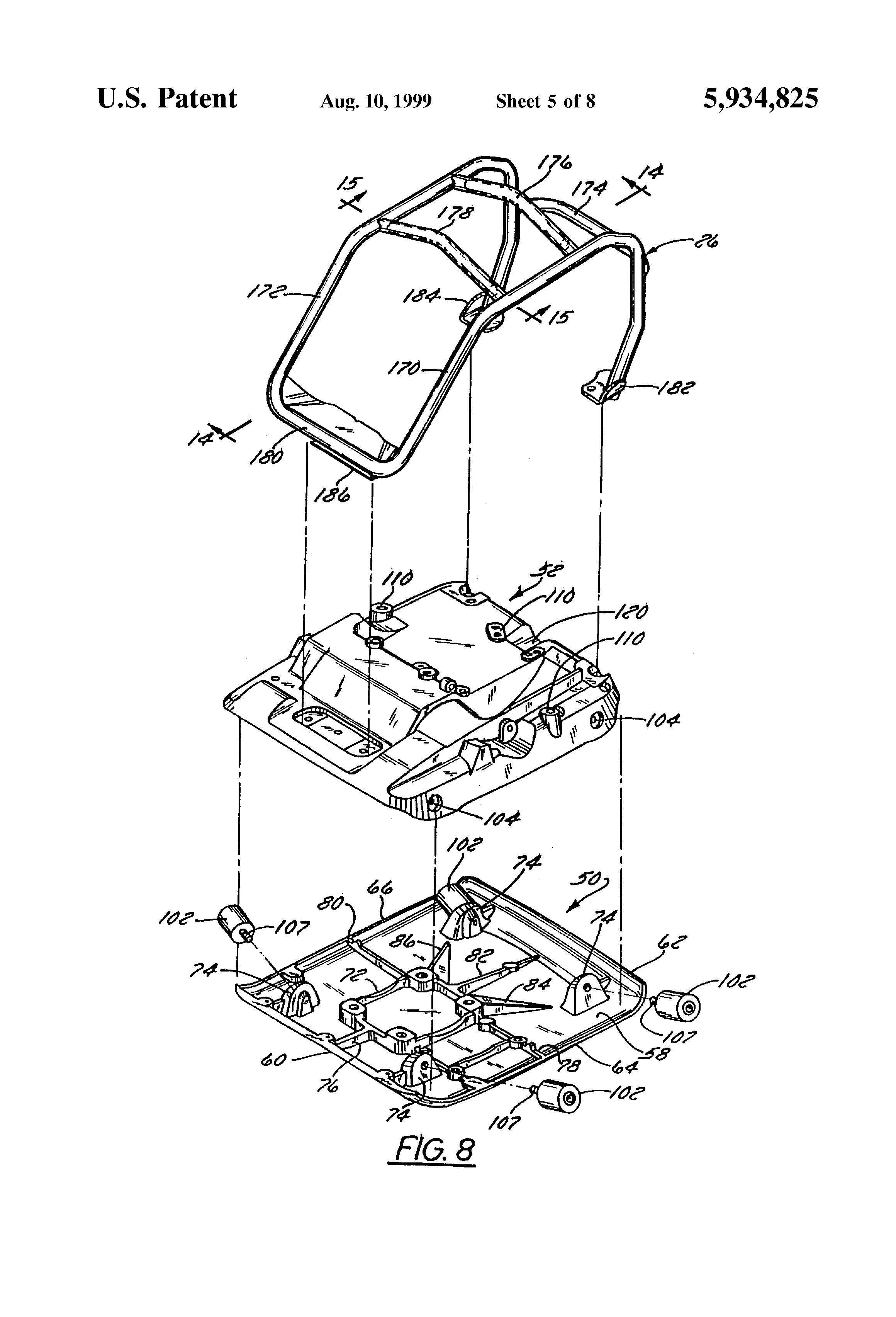 patent us5934825 - vibratory plate machine