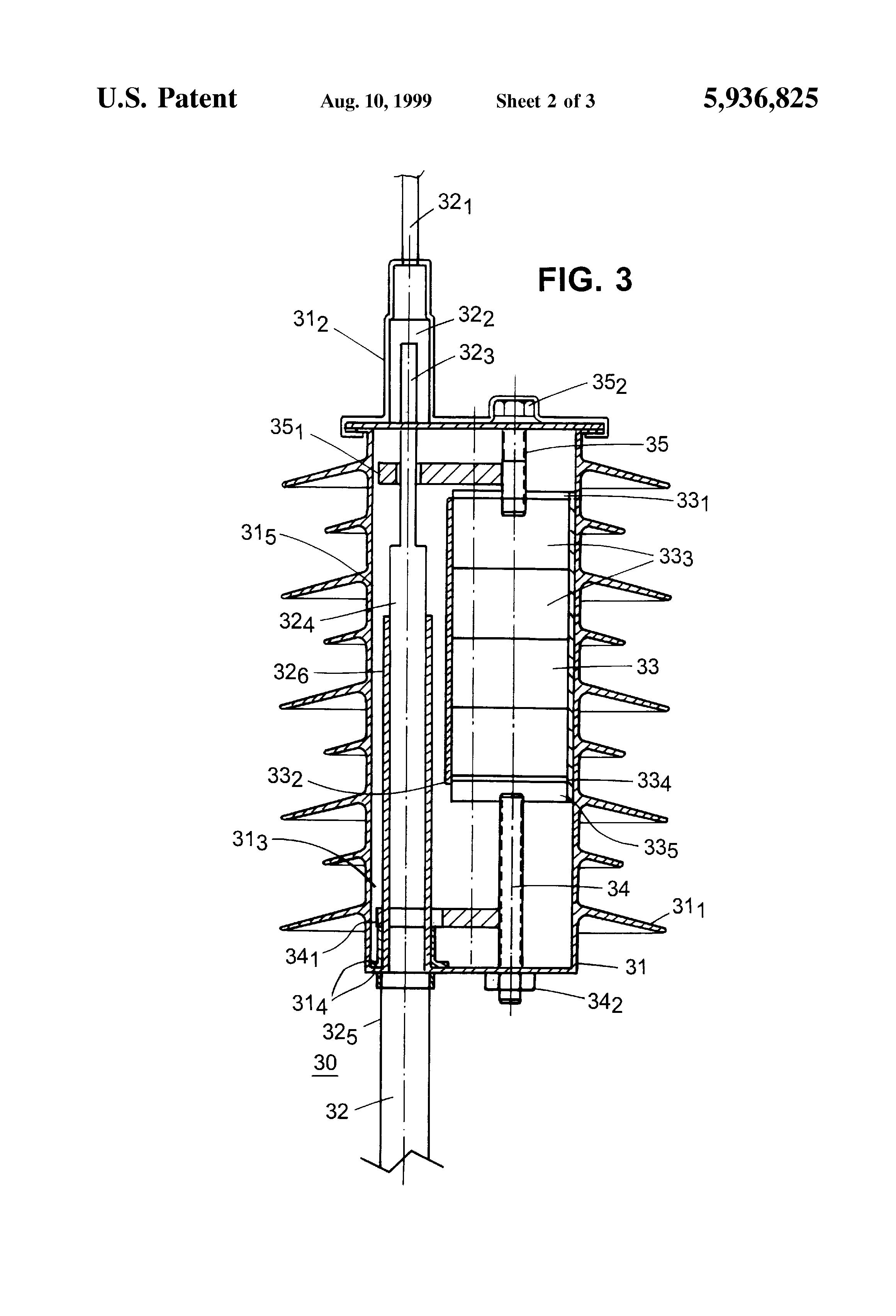 patent us5936825 - rise pole termination  arrestor combination