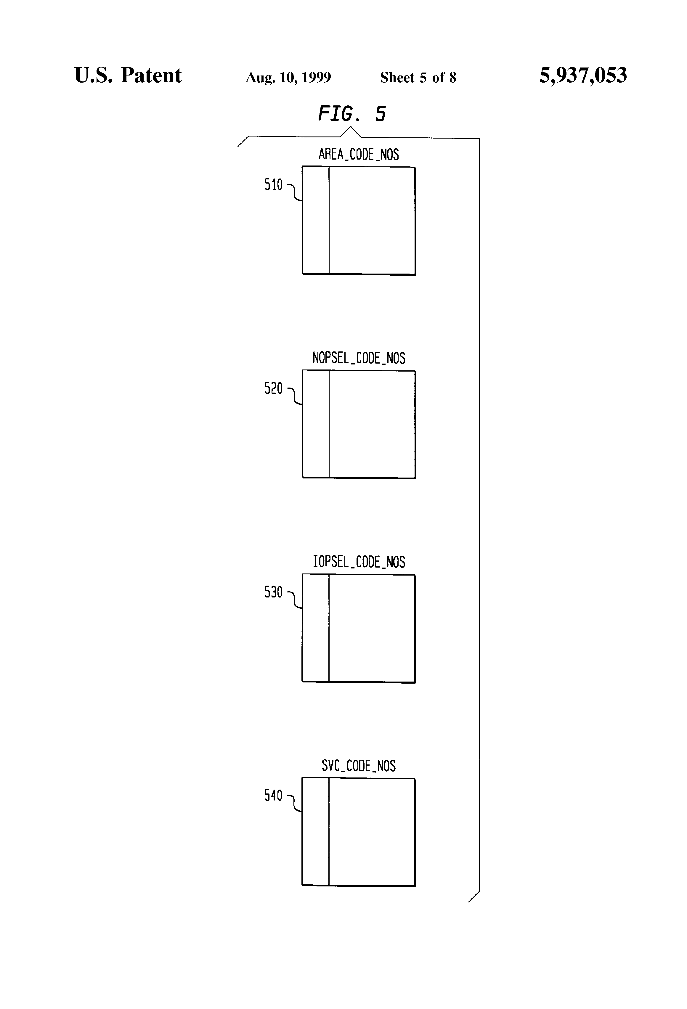 Patent US5937053 System and method for processing international