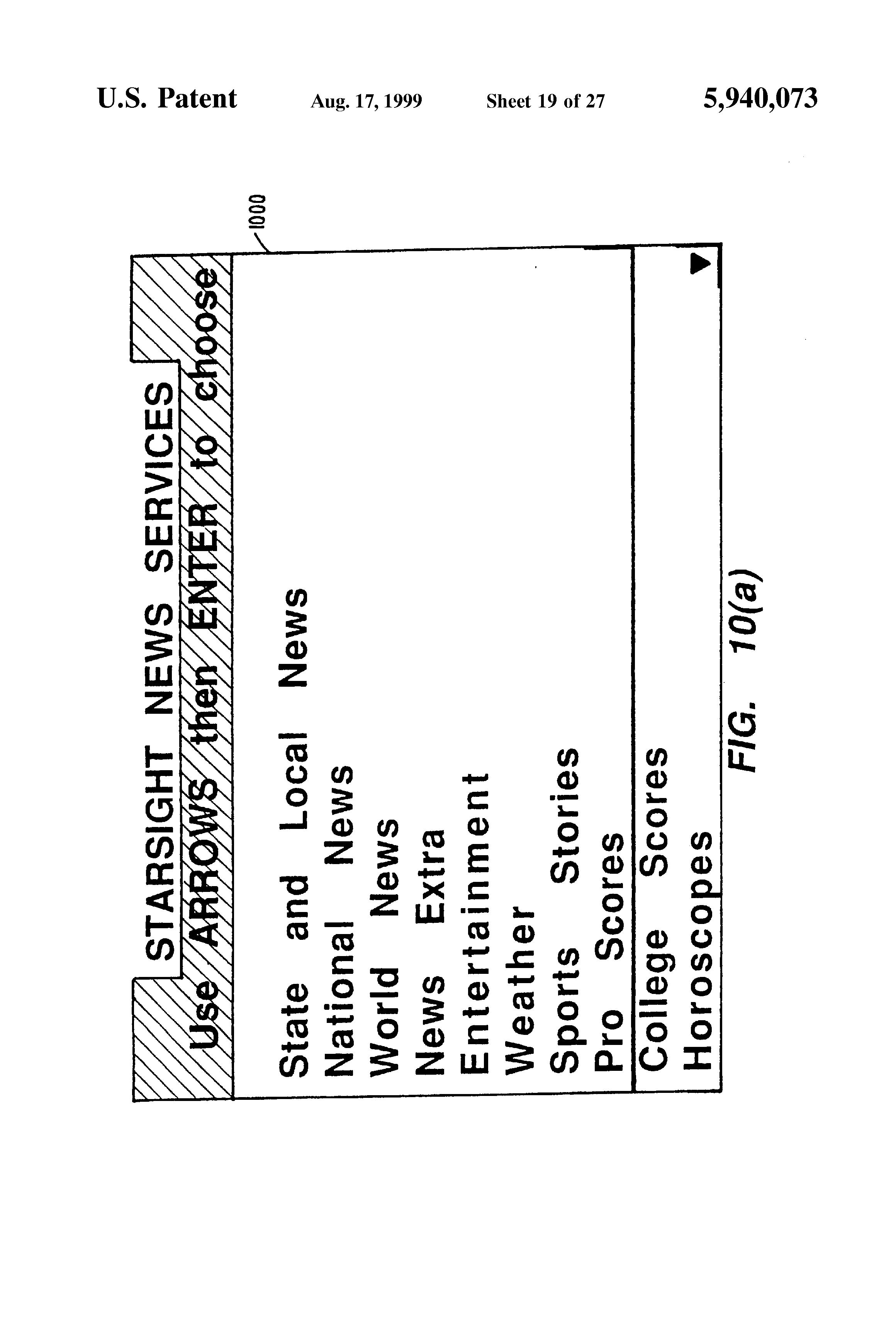 patent us5940073