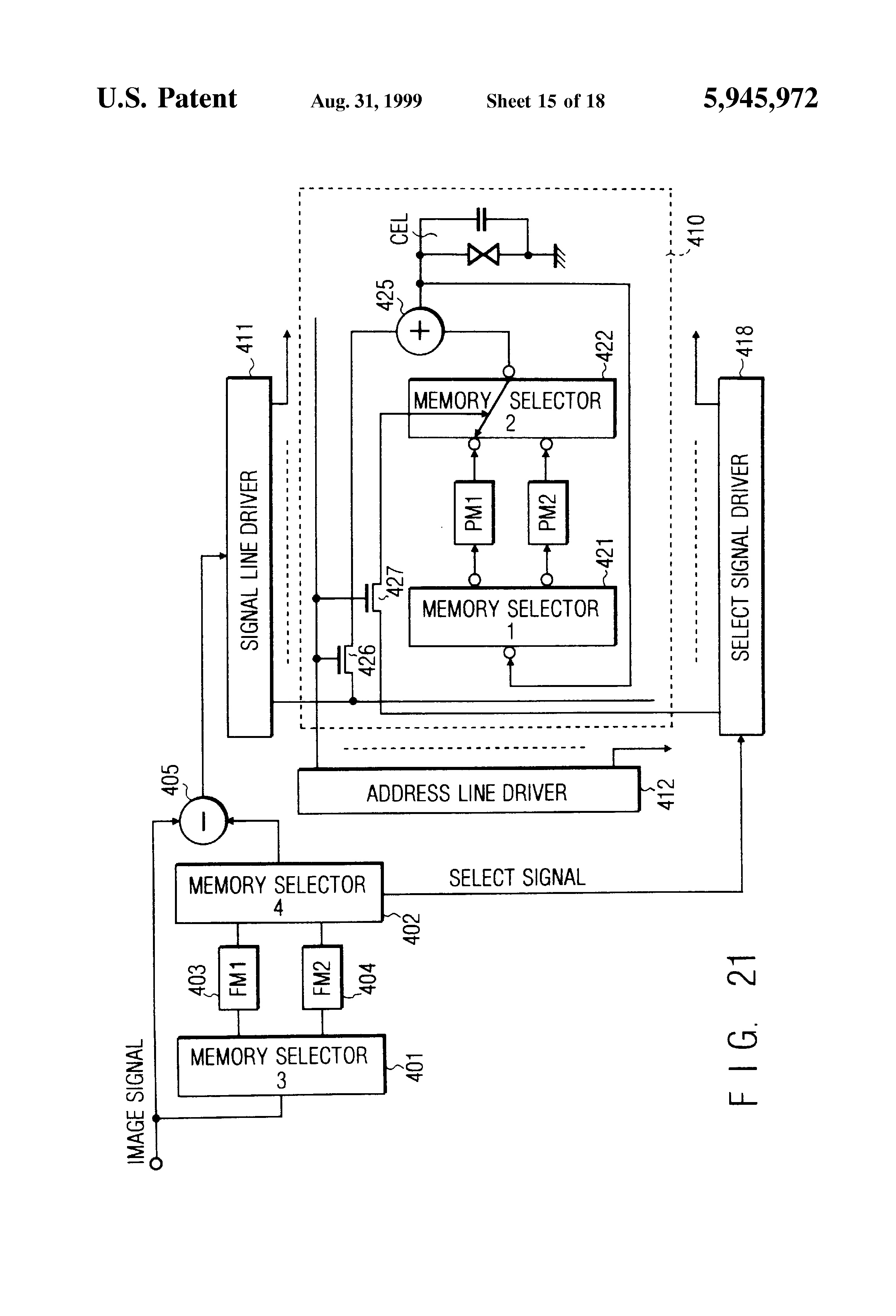 Patent Us5945972 Display Device Google Patents Saturn Sw1 Engine Diagram Drawing