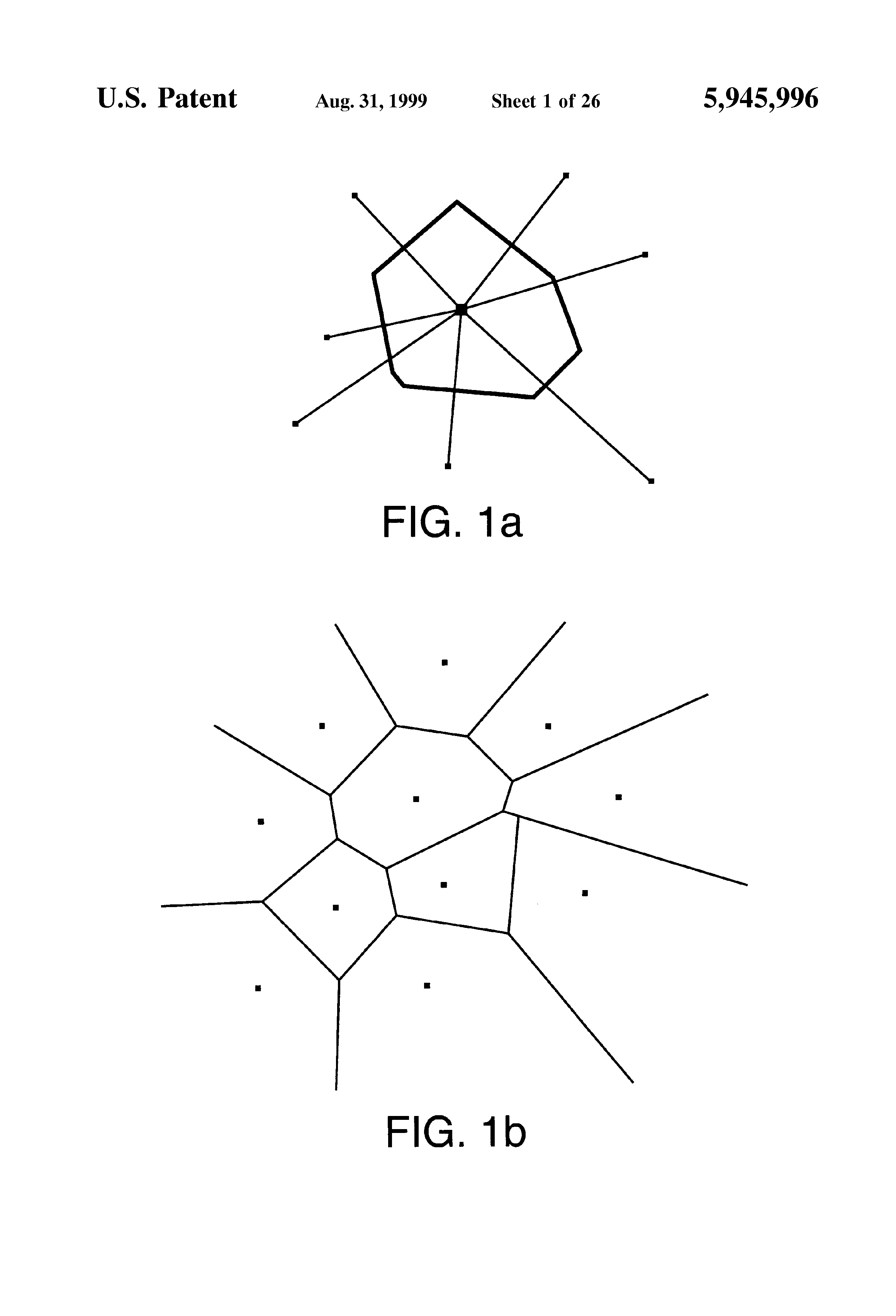 Patent Us5945996 System And Method For Rapidly Generating An Figure 11 Voronoi Diagram Constructed On 4000 Points Drawing