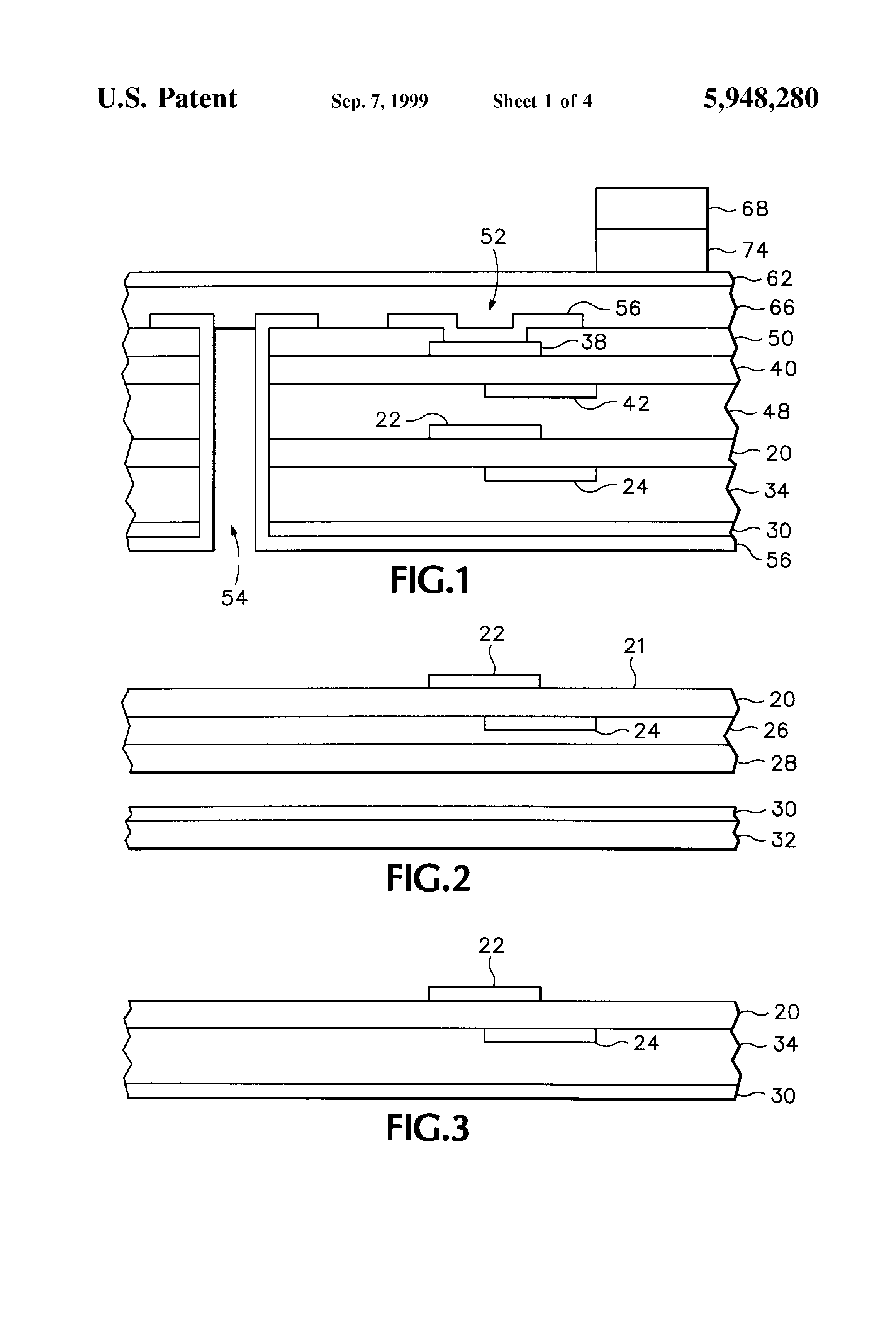 Patent Us5948280 Multilayer Printed Circuit Board Laminated With Wiring Drawing