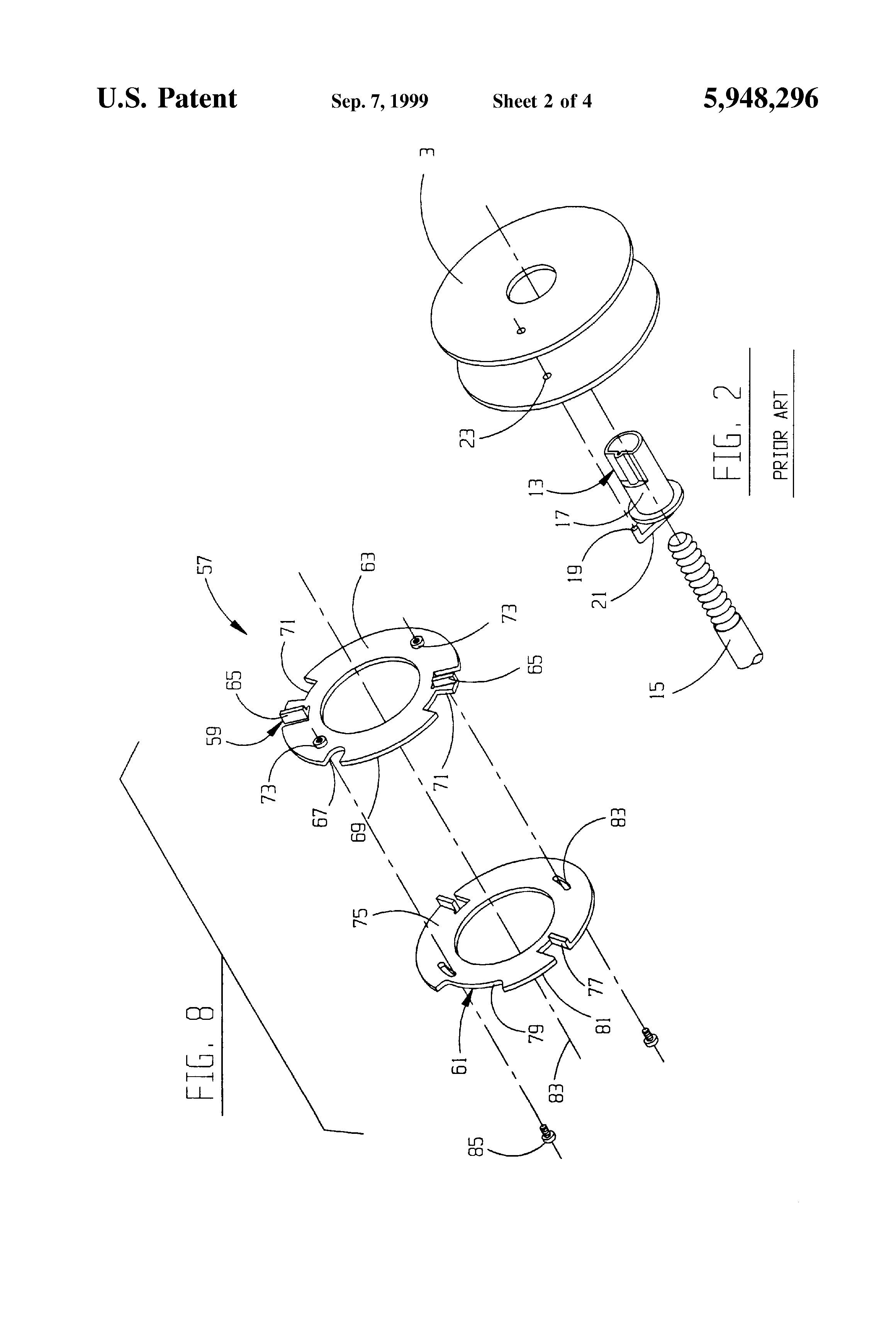 patent us5948296 - wire wheel adapter for mig welder