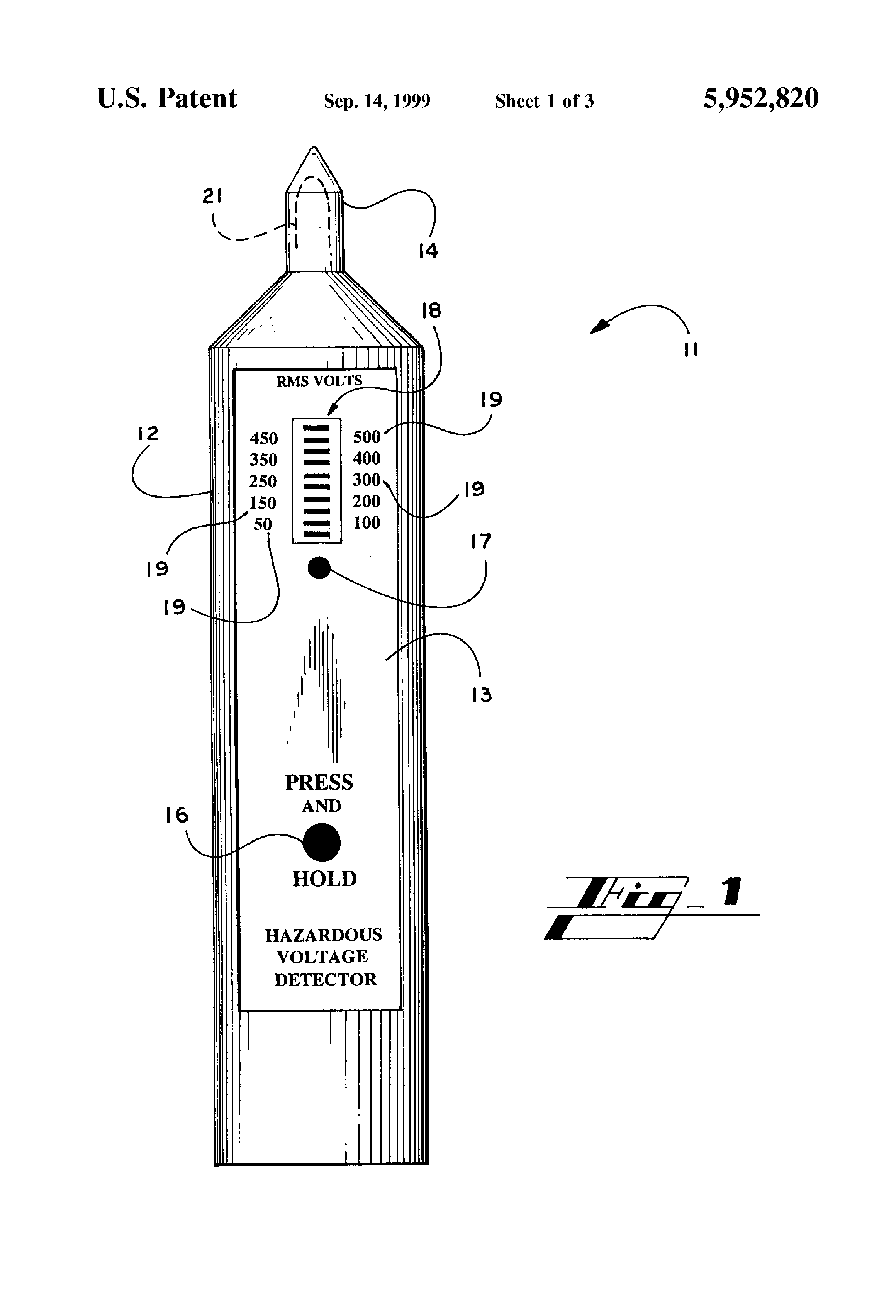 patent us5952820 - foreign voltage detector