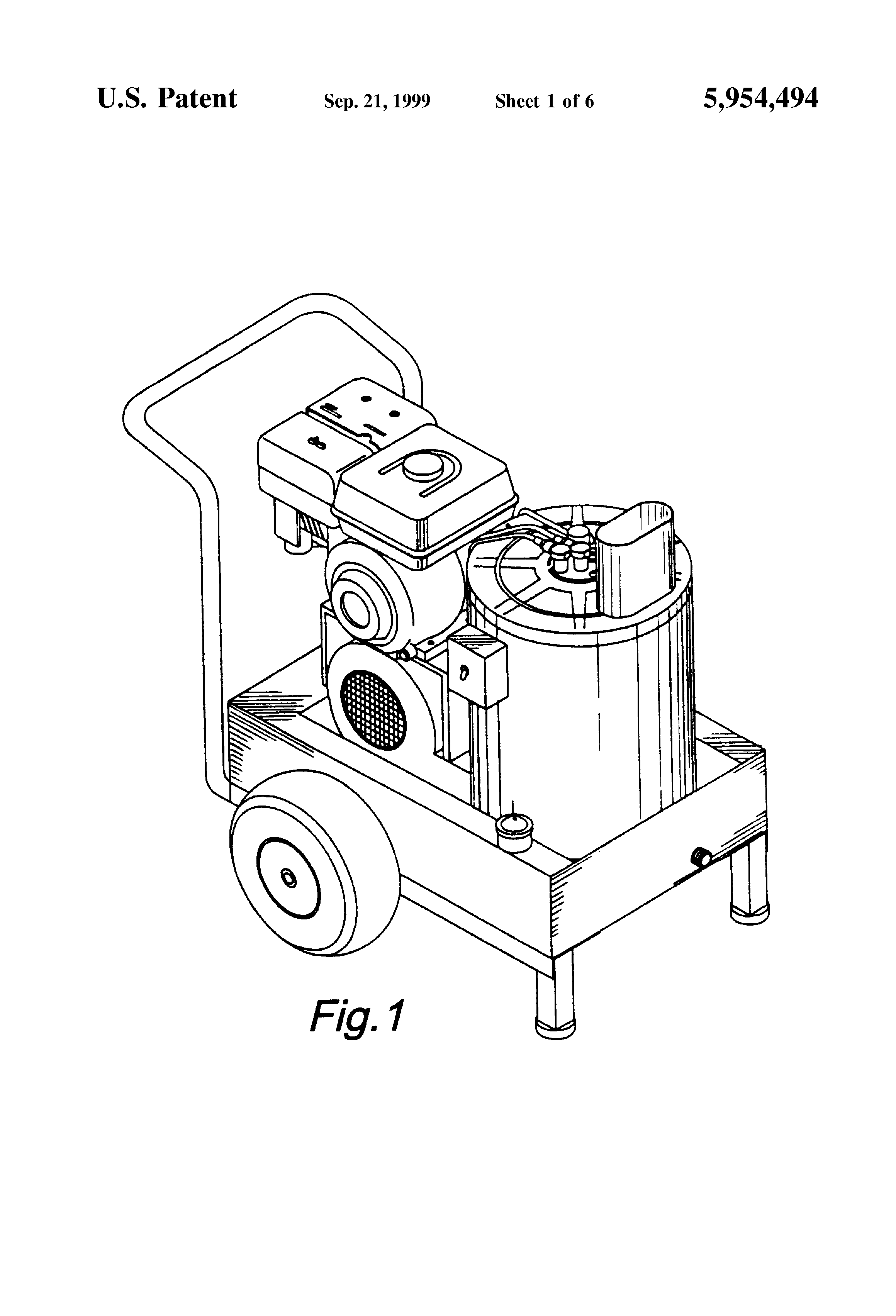 patent us5954494 - pressure washer blower ignition electrical system