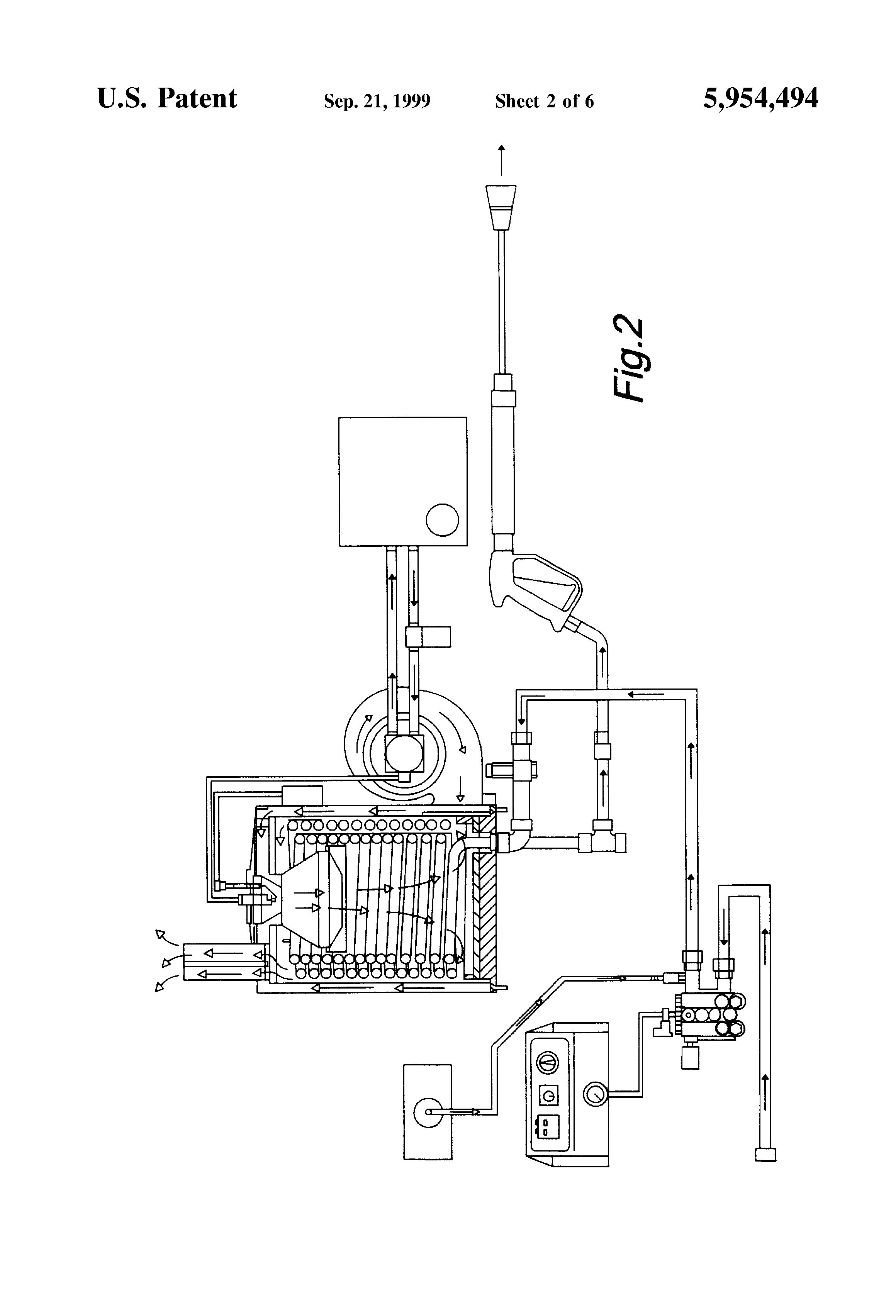 US5954494 2 patent us5954494 pressure washer blower ignition electrical hot water pressure washer wiring diagram at virtualis.co