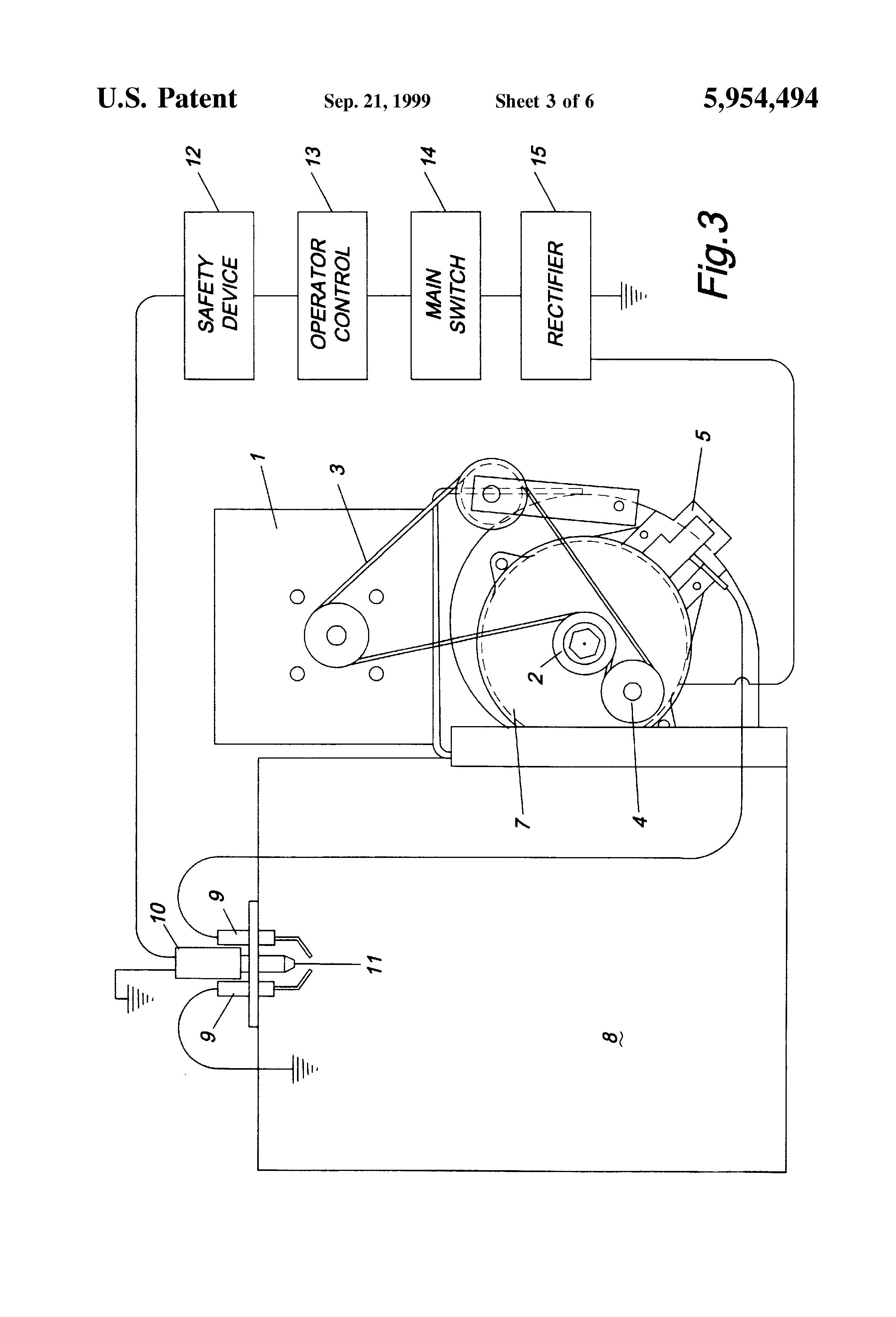 US5954494 3 patent us5954494 pressure washer blower ignition electrical hot water pressure washer wiring diagram at virtualis.co