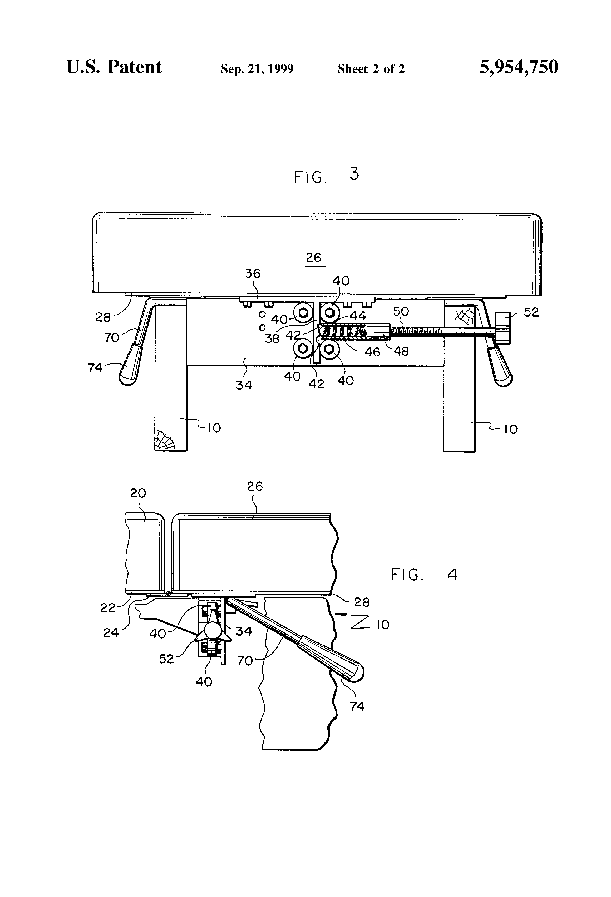Patent Us5954750 Drop Mechanism For Chiropractic Table