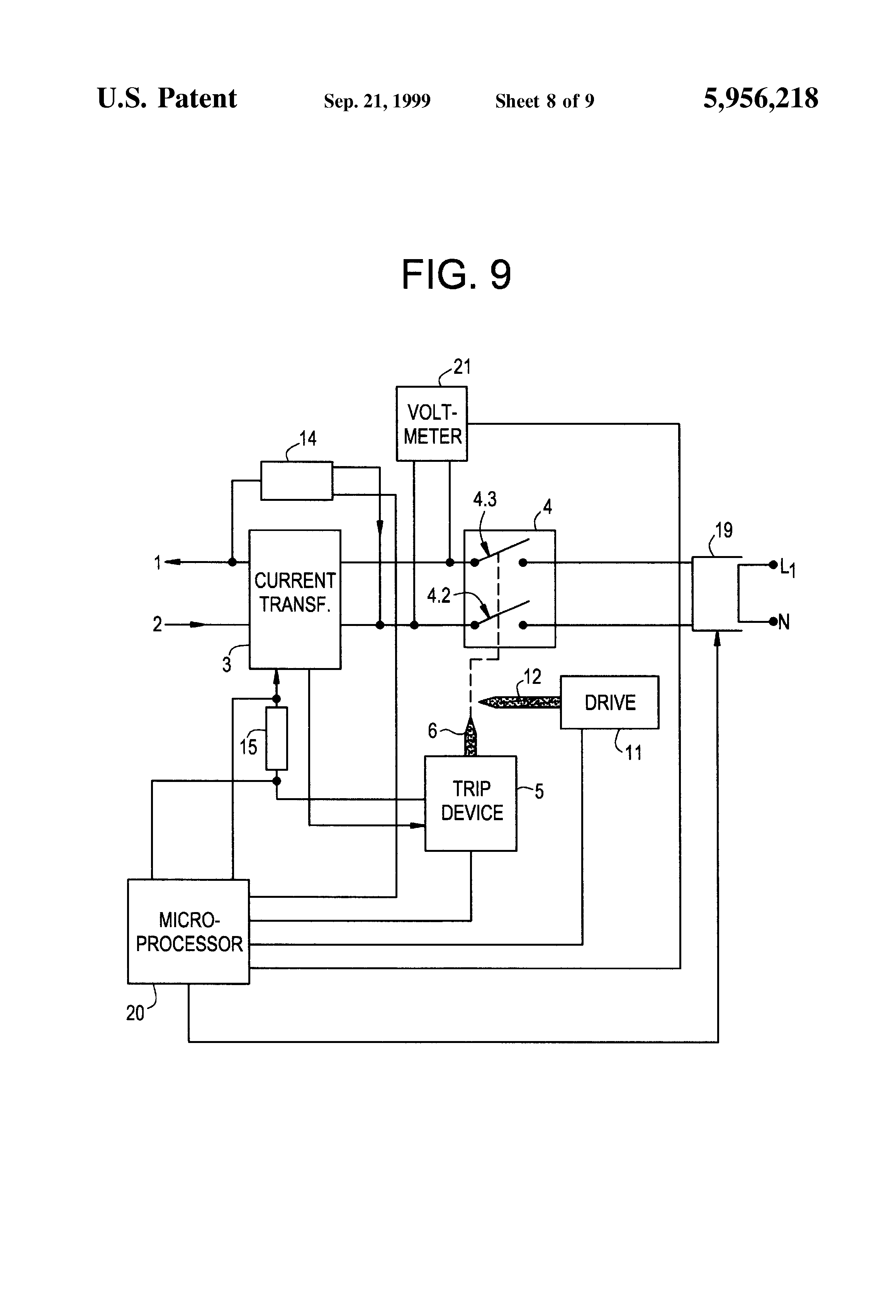 Earth leakage indicator circuit electronic circuit projects - Patent Drawing