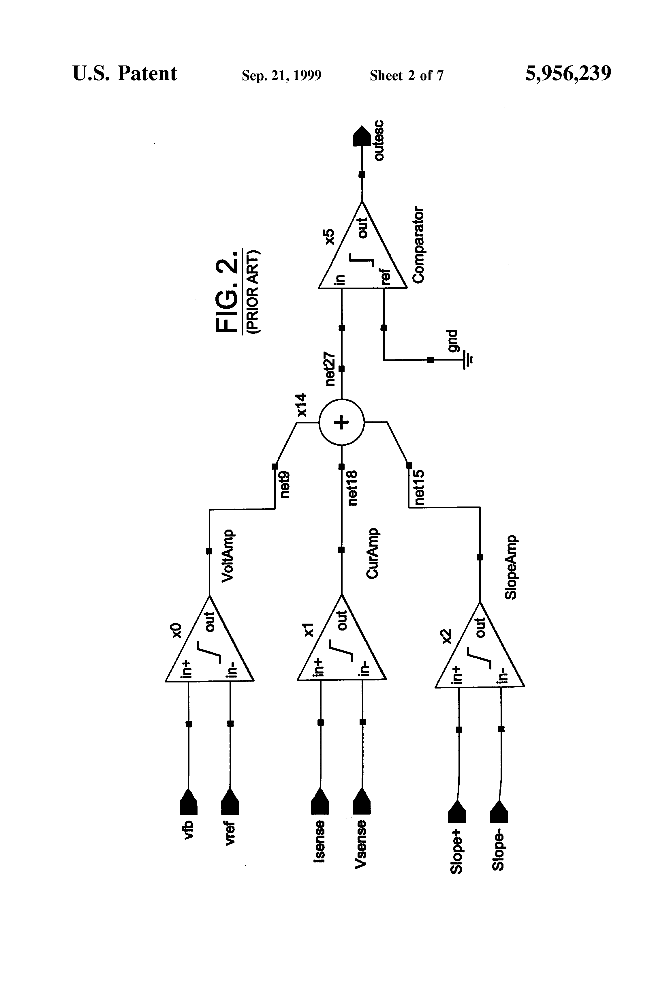 Patent Us5956239 Switching Current Mode Converter With Reduced Comparator Timer Delay Schematic 3 Power On Circuit Drawing