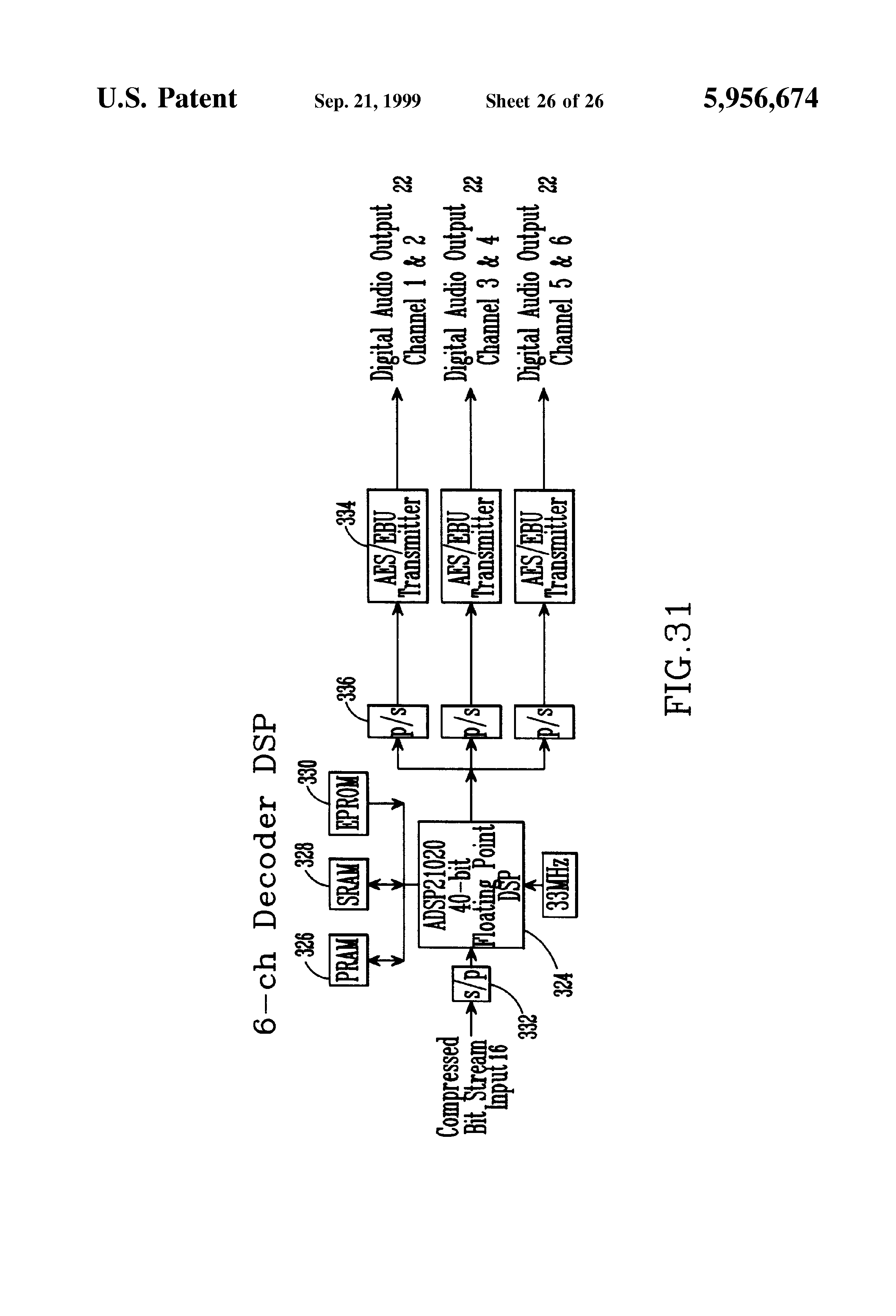 patent us5956674 multi channel predictive subband audio coder