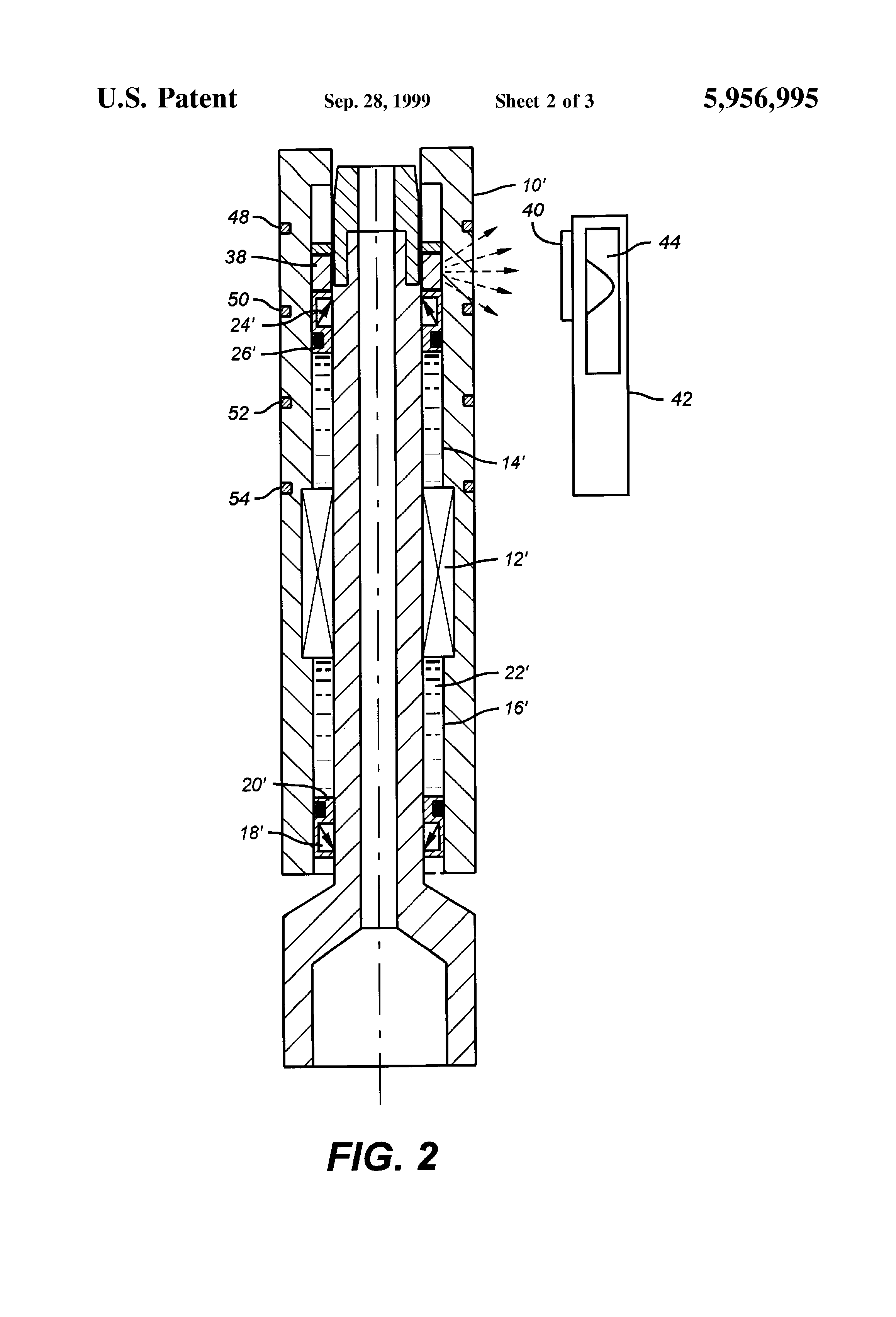 bearing assembly shown stacked dual acting ceramic thrust