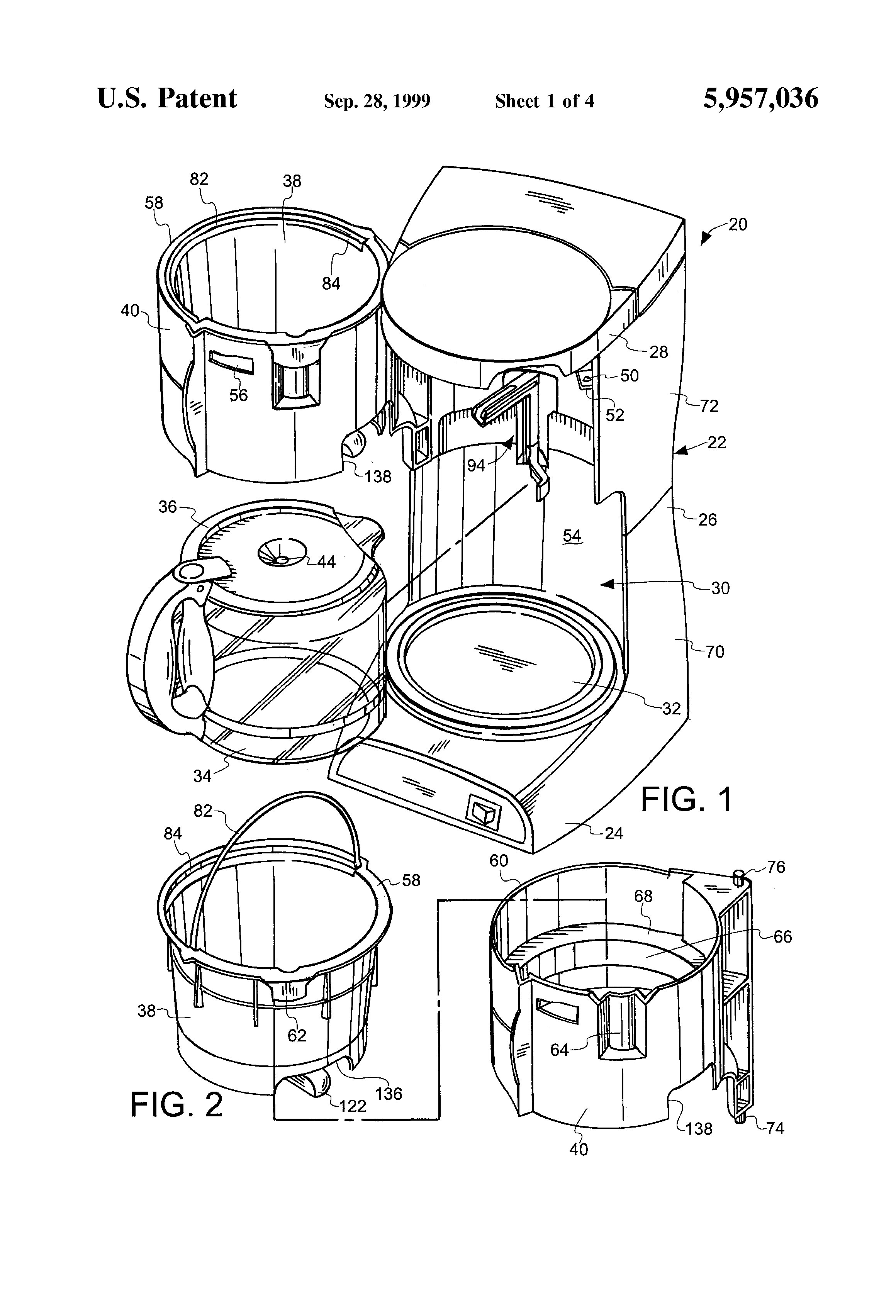 Coffee Maker Drawing ~ Patent us coffee maker with a pause serve