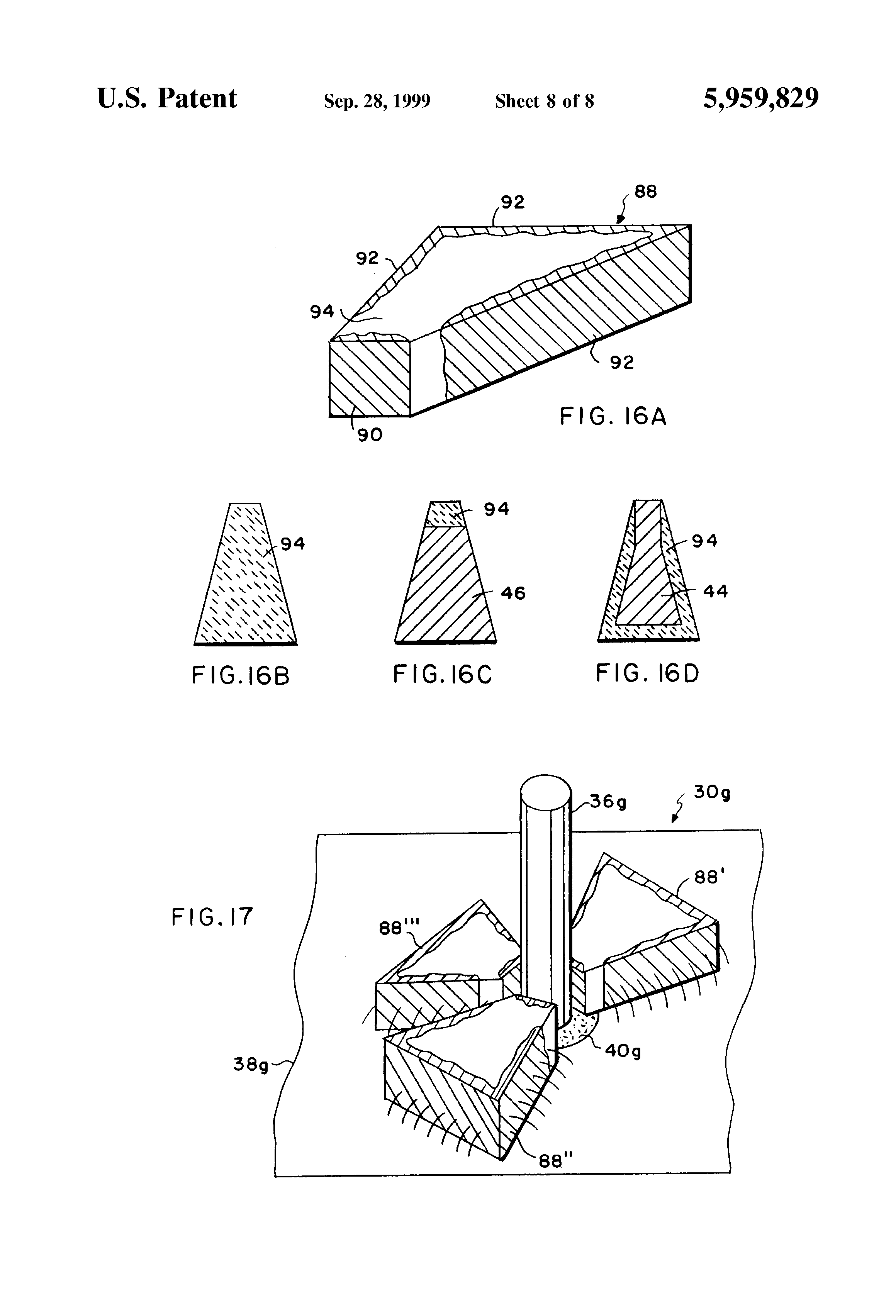 patent us5959829 - chip capacitor electromagnetic interference filter