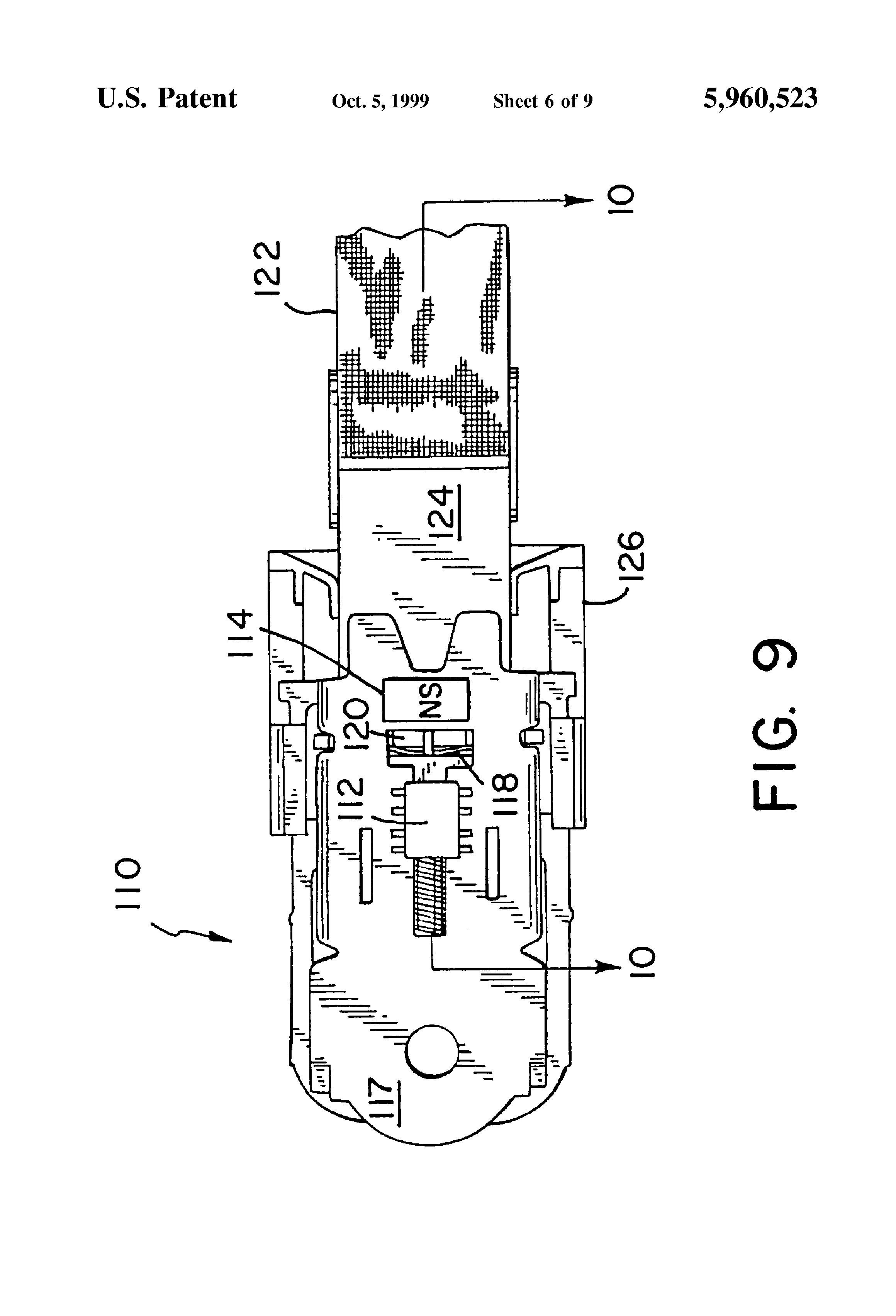 Patent Us5960523 - Seat Belt Buckle Sensor