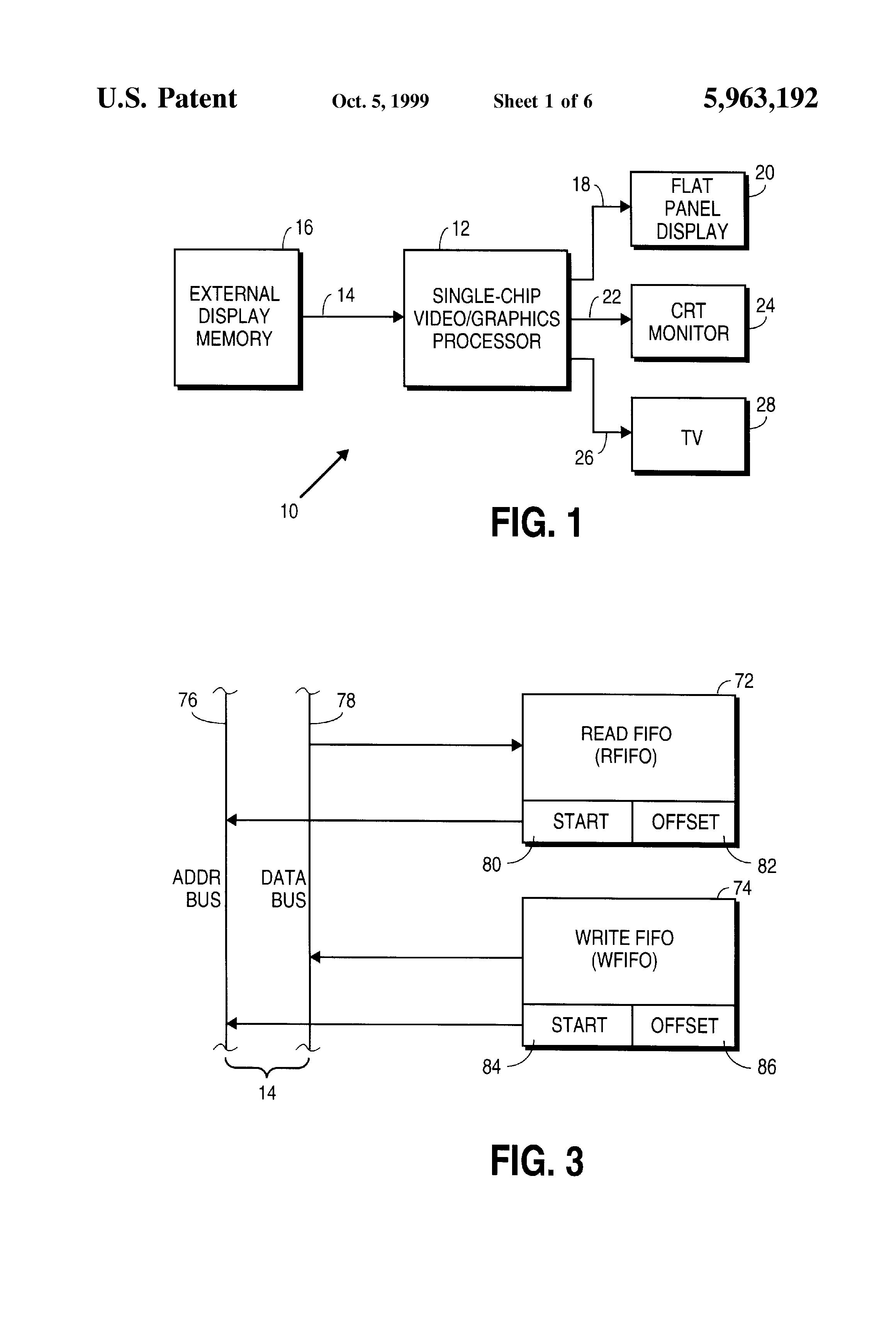 Patent Us5963192 Apparatus And Method For Flicker Reduction Crt Monitor Schematic Diagram Drawing