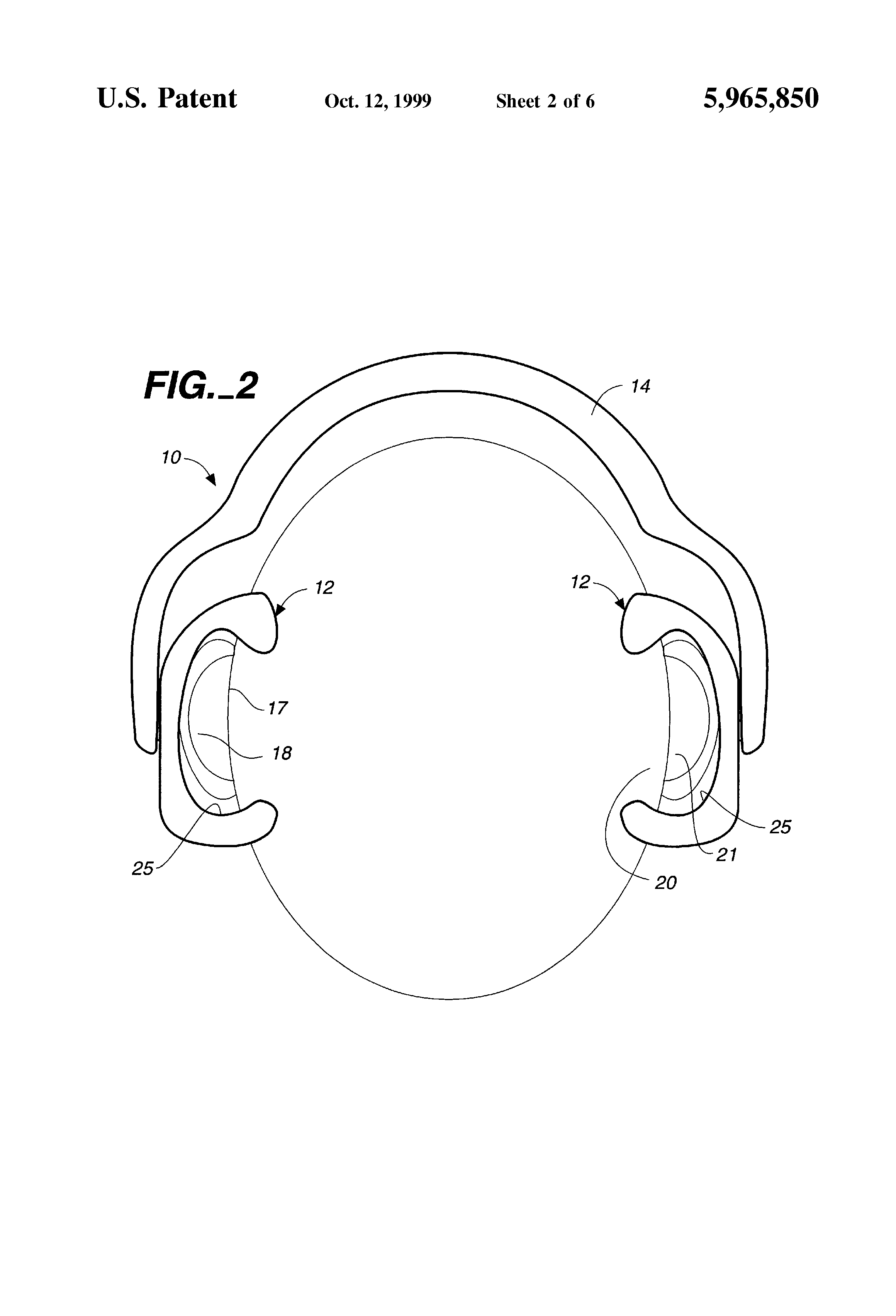 patent us5965850 - non-electronic hearing aid