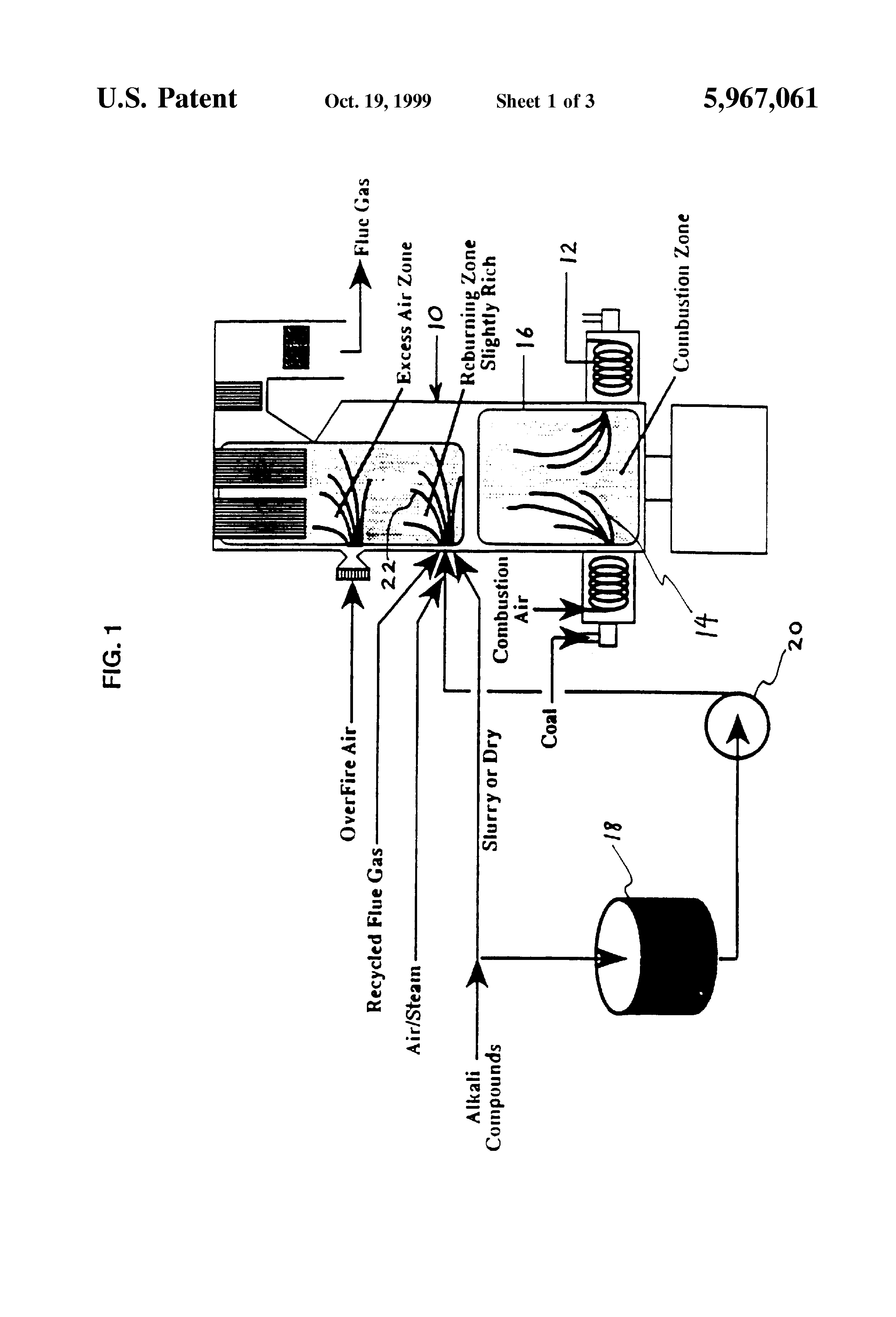 Patent US5967061 - Method and system for reducing nitrogen oxide and