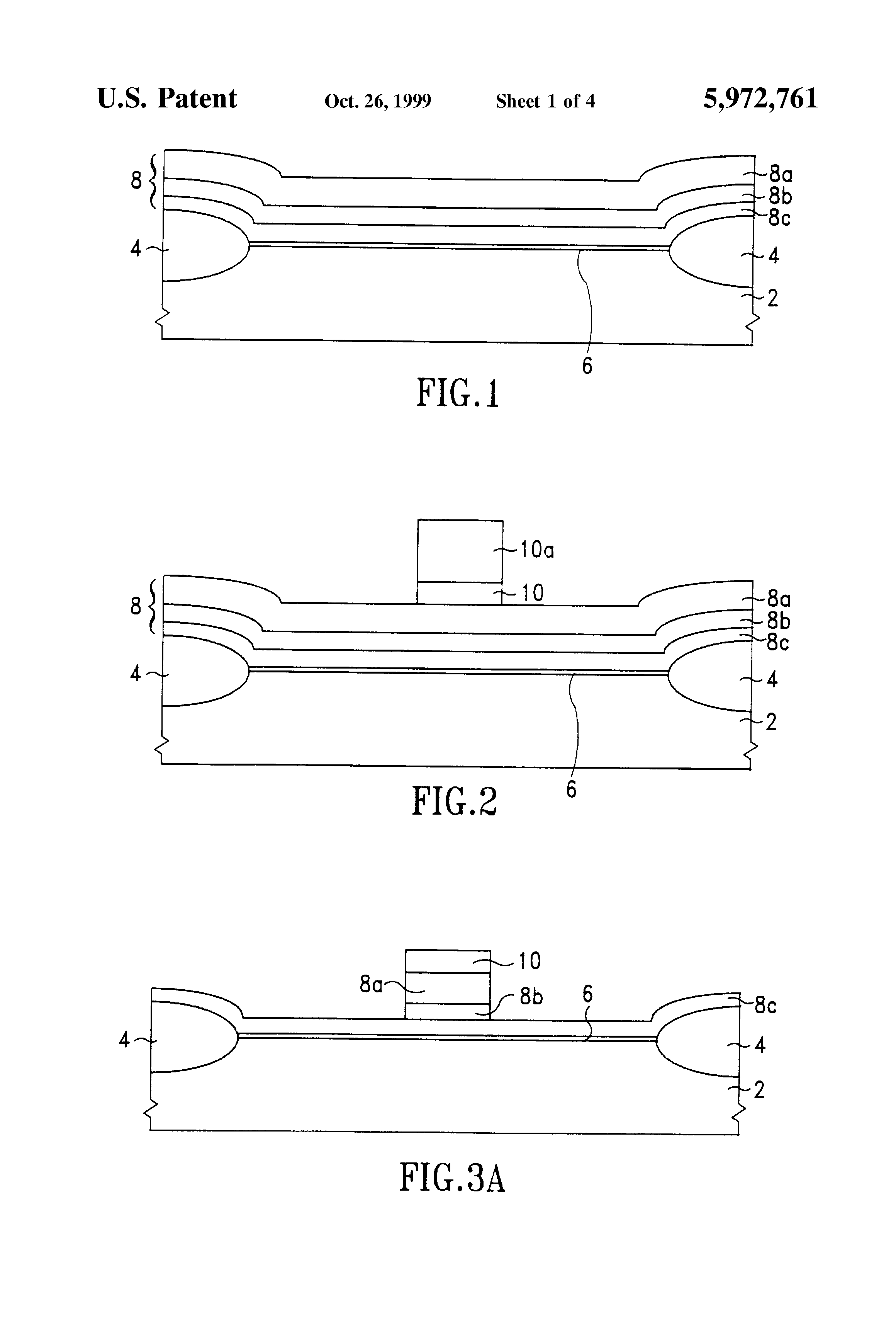 Brevet Us5972761 Method Of Making Mos Transistors With A Gate Side Dual Mosfets Patent Drawing
