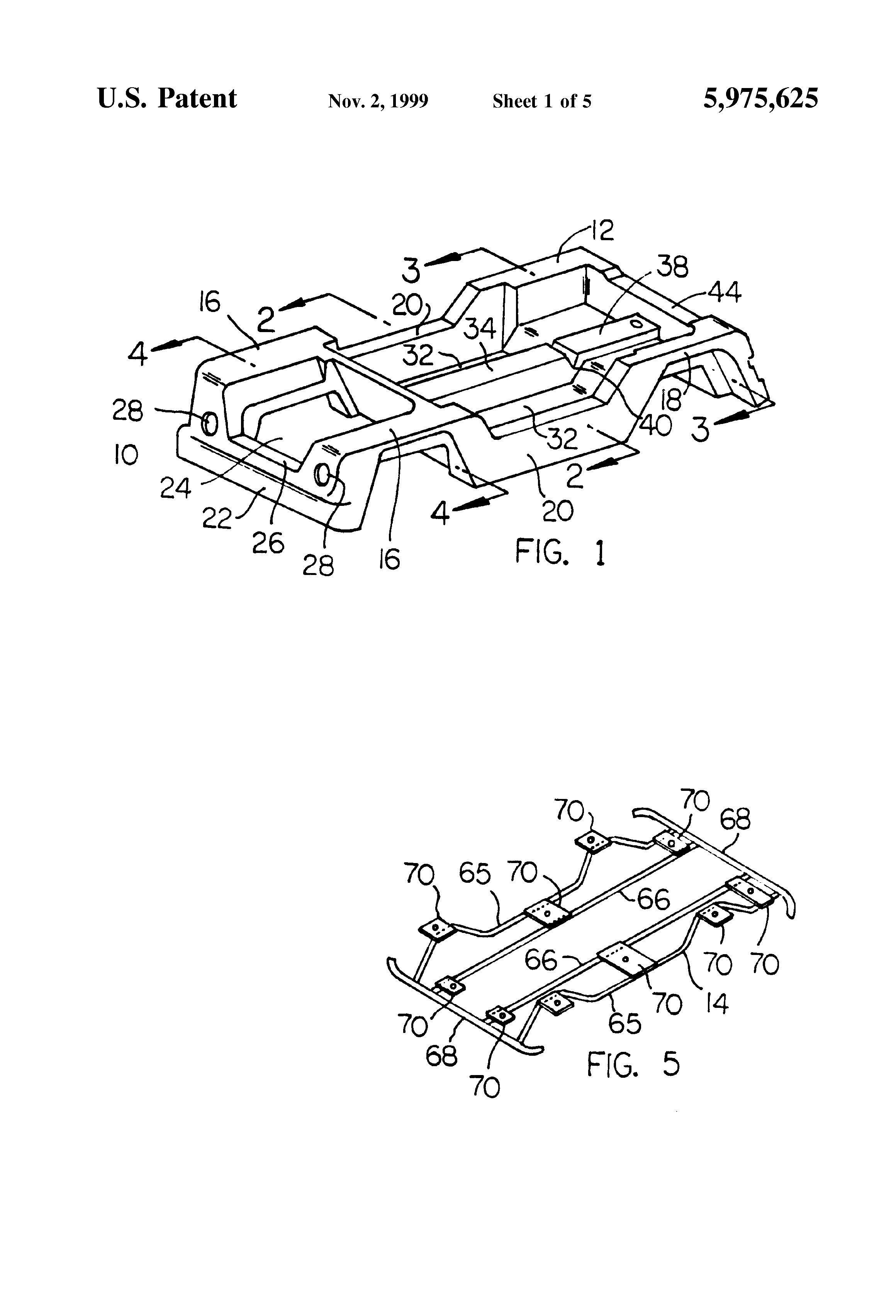 patent us5975625 automotive vehicle body having a plastic outer Porsche 928 Schematic patent drawing