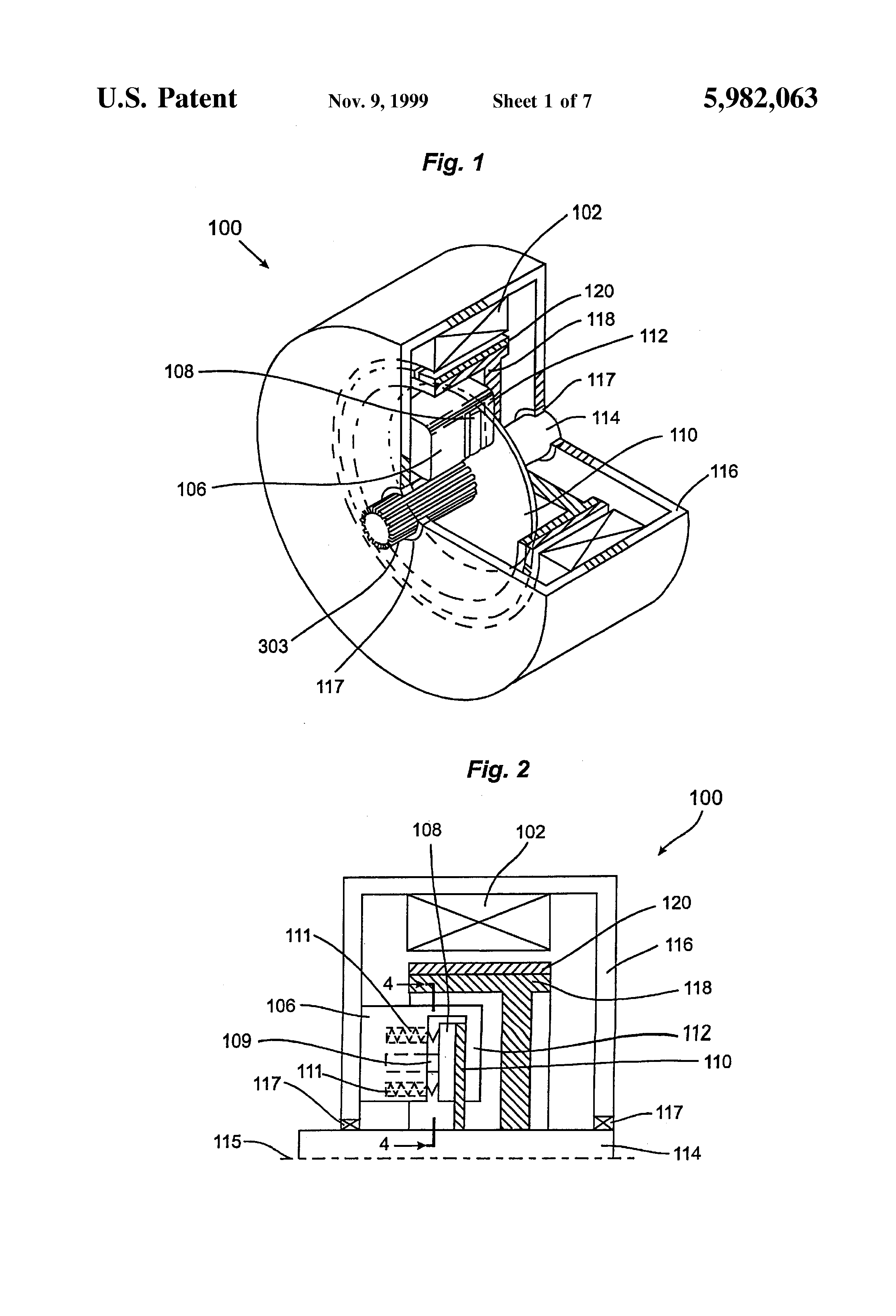 Patent us5982063 electric motor with internal brake for Electrical braking of dc motor