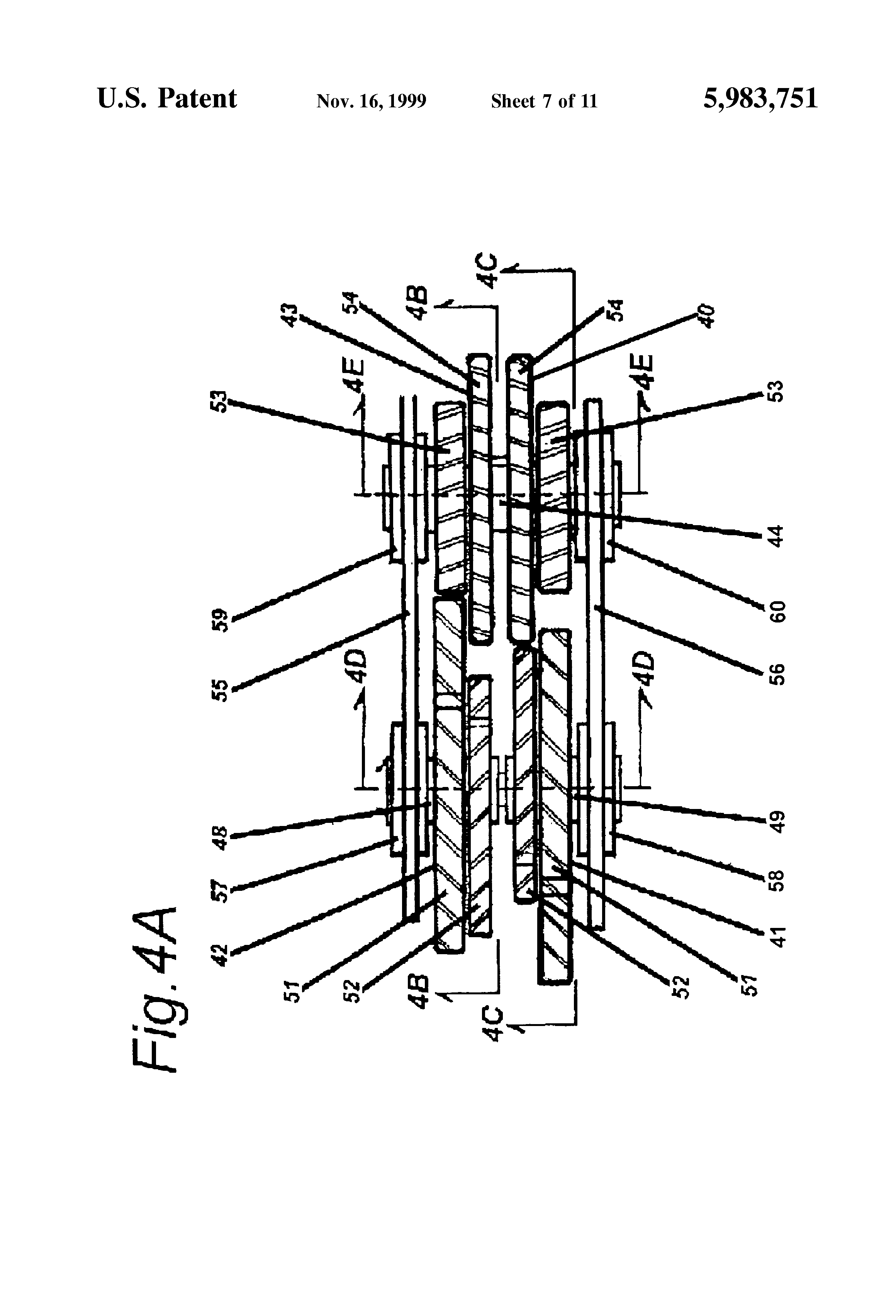 Patent Us5983751 Single Gear Train Bicycle Drive Mechanism Drawing Force Diagrams