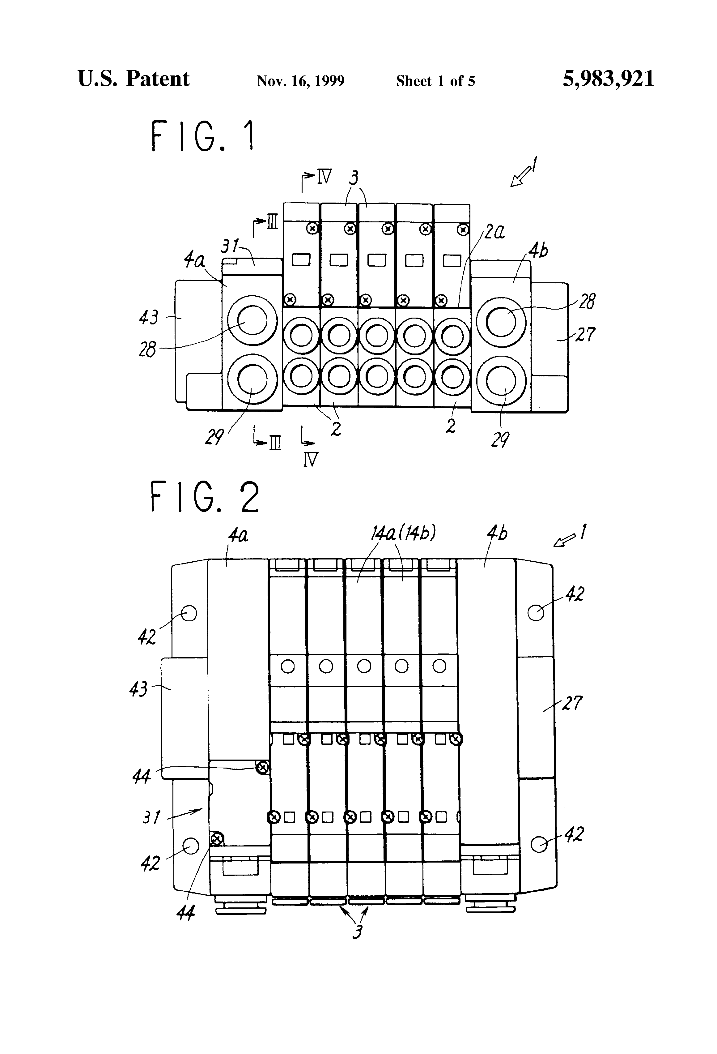 Patent Us5983921 Directional Control Valve Connected Body Google Smc Manifold Block Wiring Diagram Drawing
