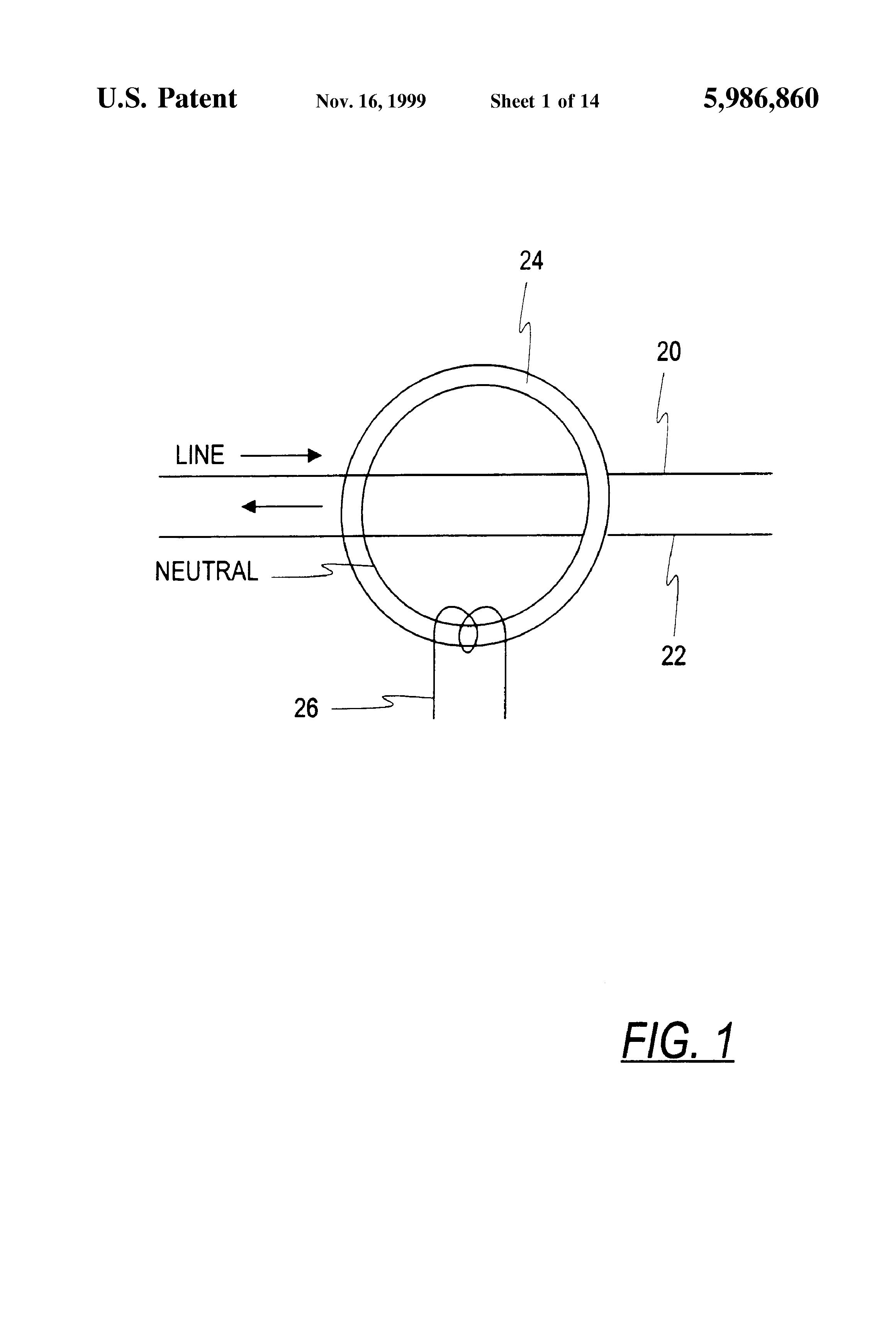 patent us5986860 - zone arc fault detection
