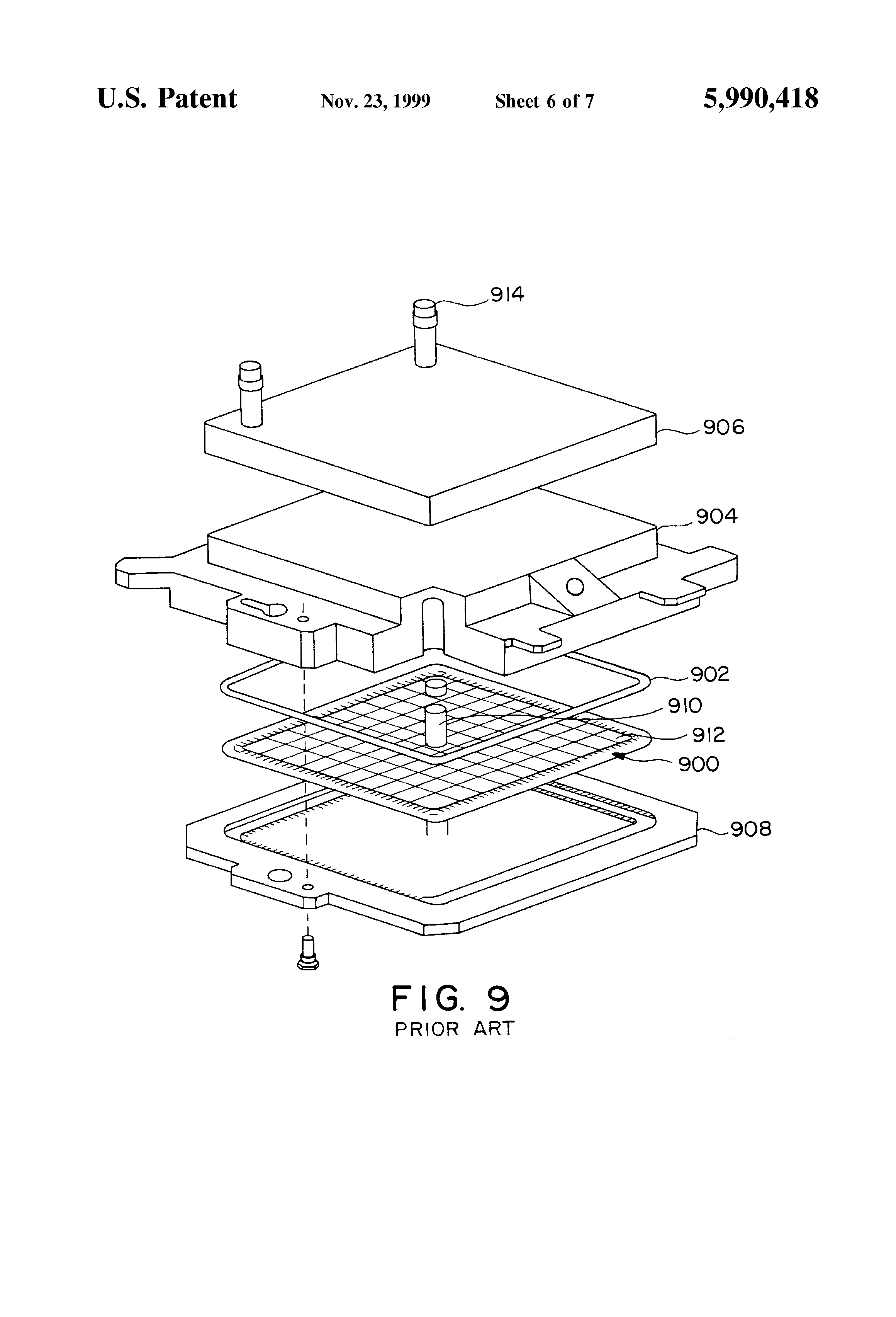 patent us5990418  ccga structure with