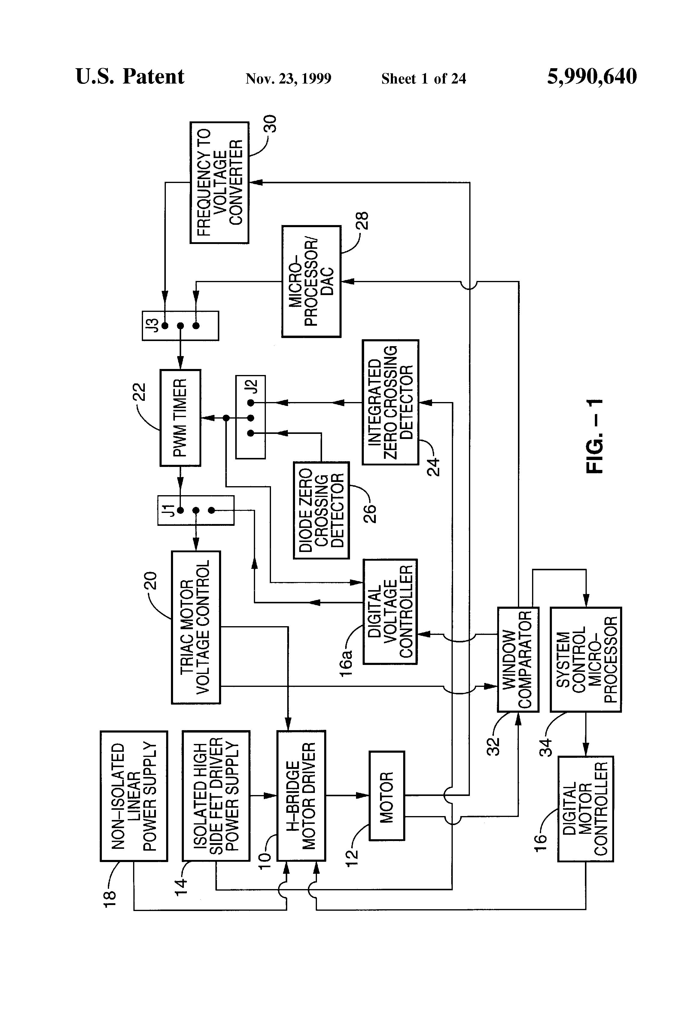 Patent Us5990640 Motor Control Apparatus Google Patents Rectifier Circuit Dc Moreover Full Wave Bridge Drawing