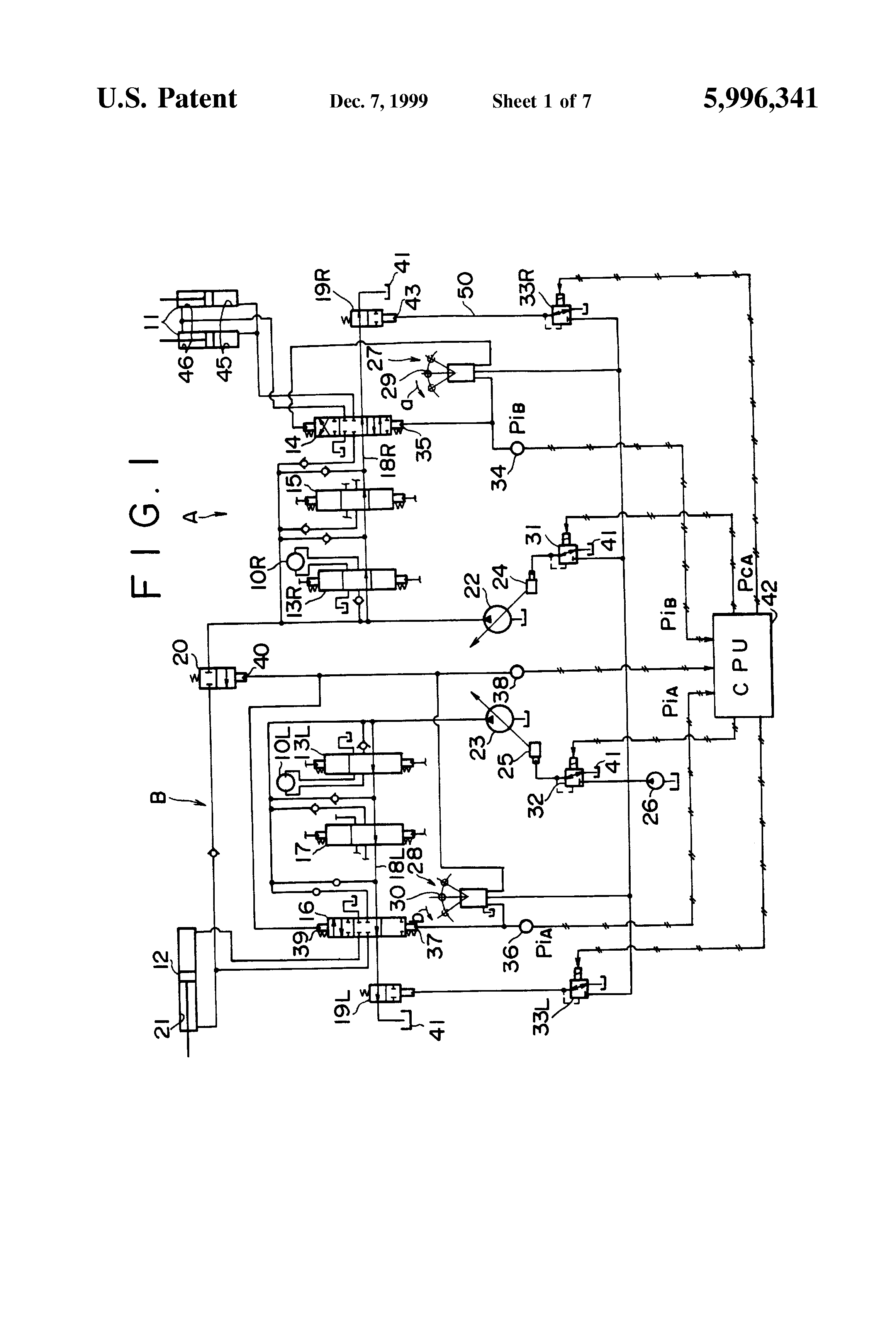 US5996341 1 patent us5996341 hydraulic control circuit in a hydraulic palfinger wiring diagram at readyjetset.co