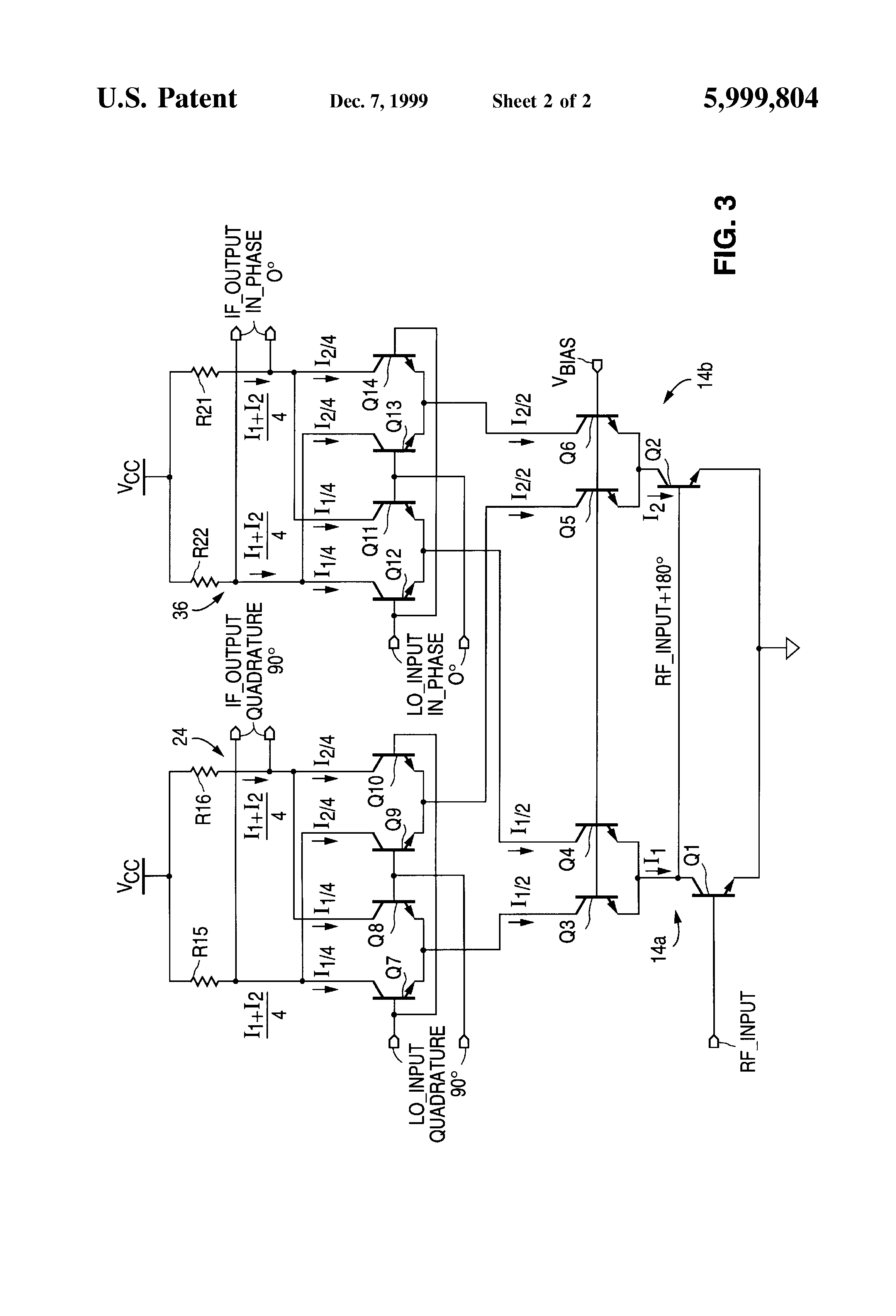 Patent Us5999804 Low Noise Quadrature Mixer Circuit Google Distortion Rf To If Mixers Drawing