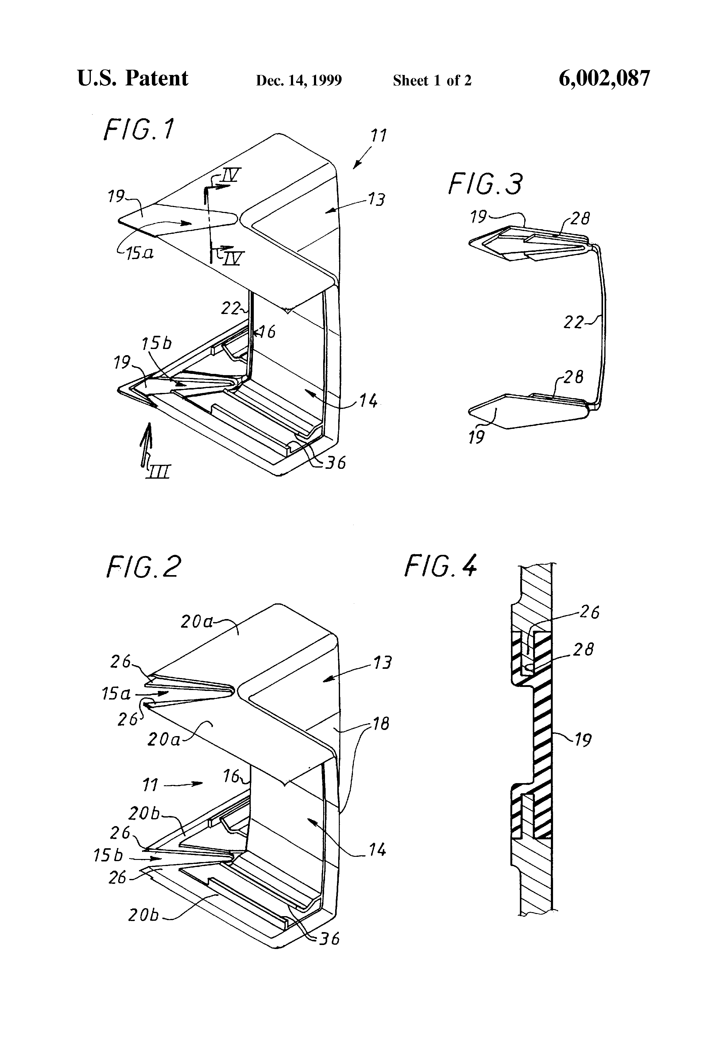 Patent Us6002087 Variable Covering Device For Electrical Wiring Us Drawing