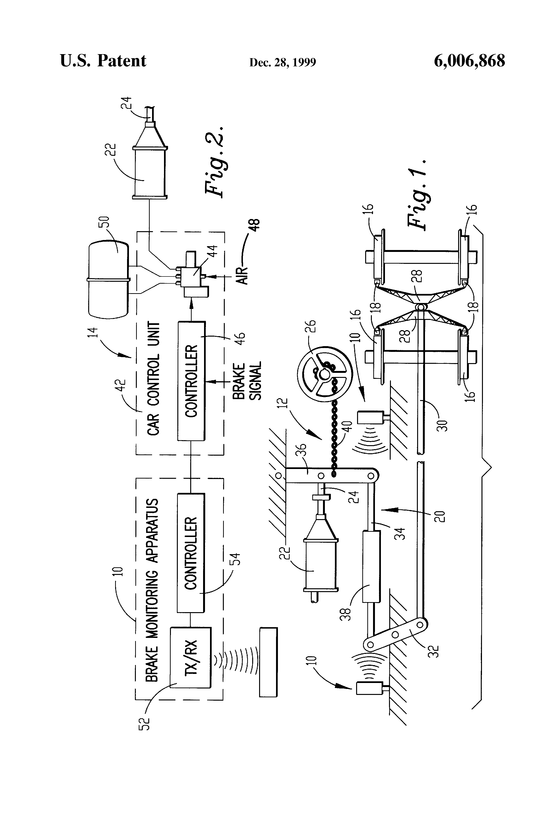Rail Brake Diagram : Patent us system for monitoring brake status on a