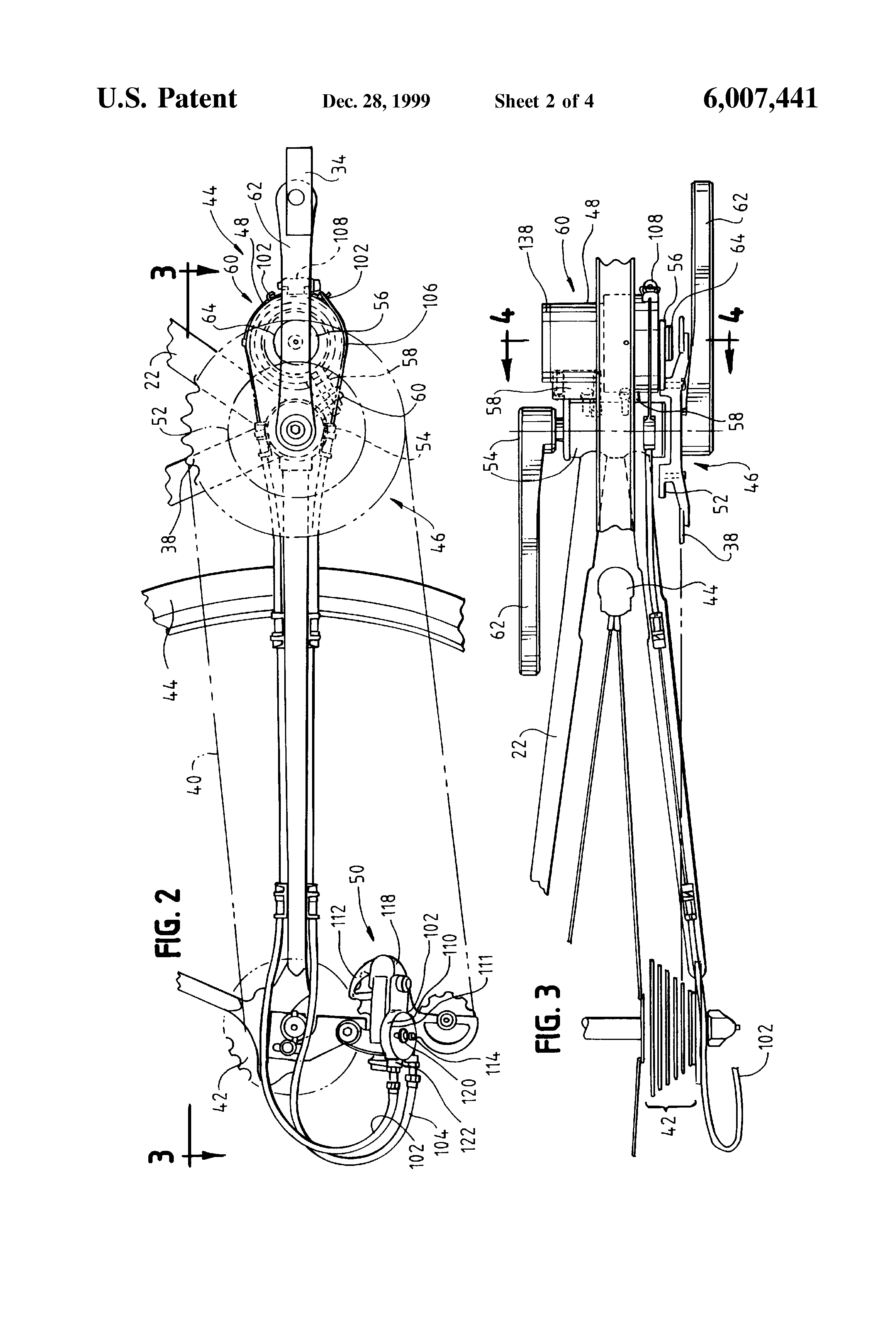 Patent US6007441 Automatic gear shifting mechanism for