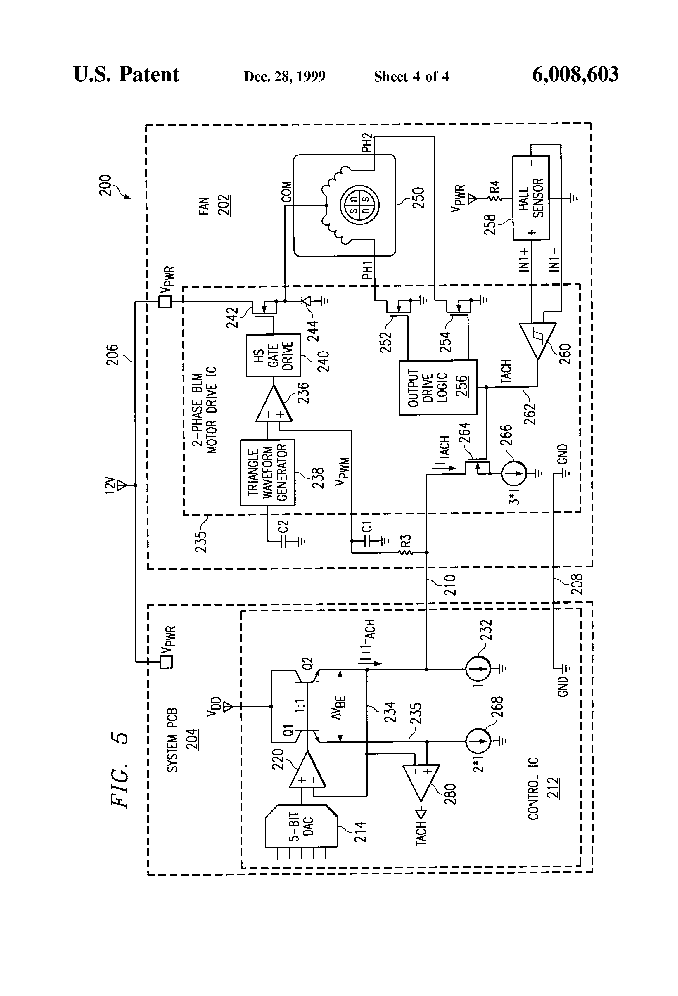US6008603 4 patent us6008603 brushless dc motor assembly control circuit ebm papst motor wiring diagram at webbmarketing.co
