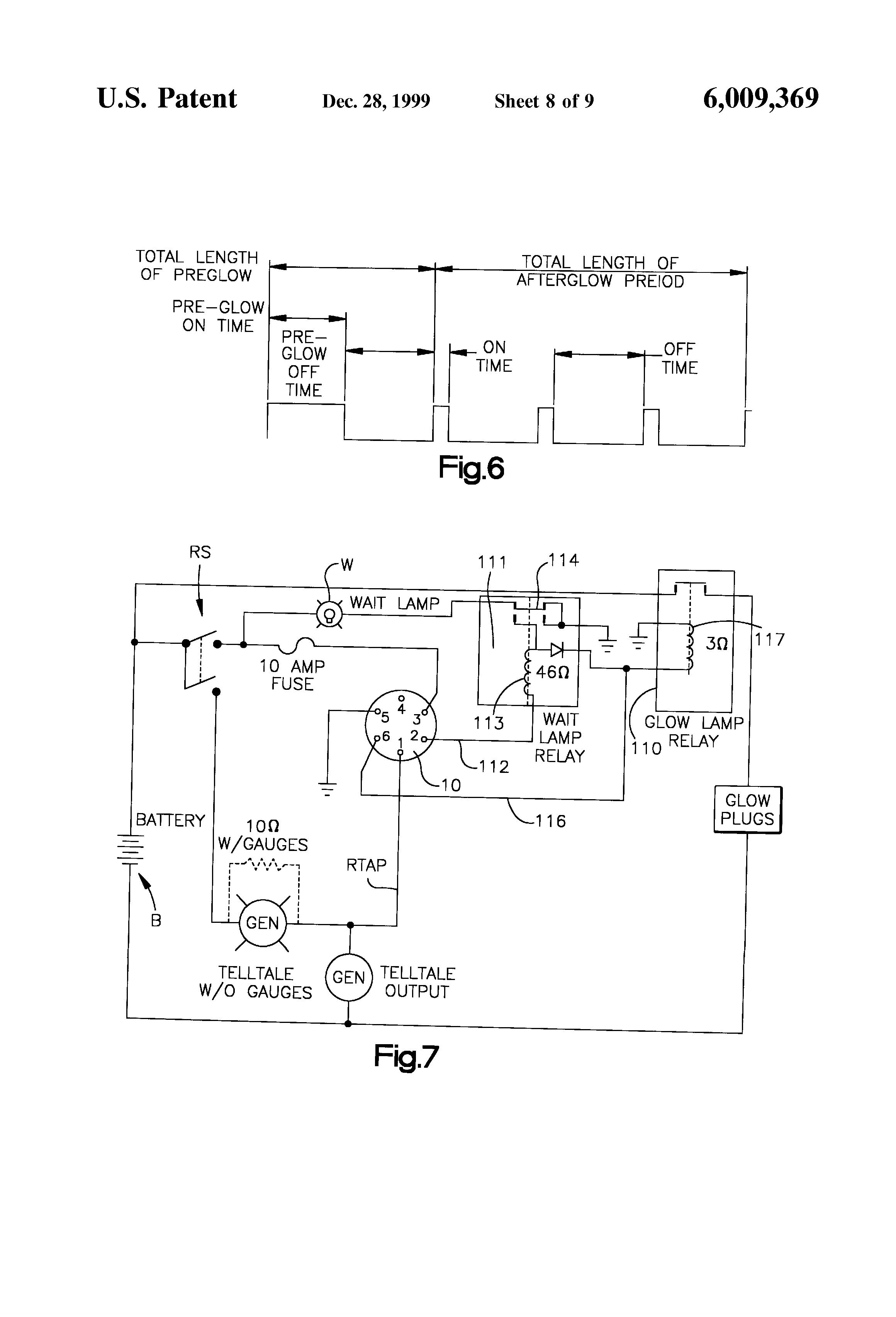 Patent US6009369 Voltage monitoring glow plug controller – Isuzu Glow Plug Wiring