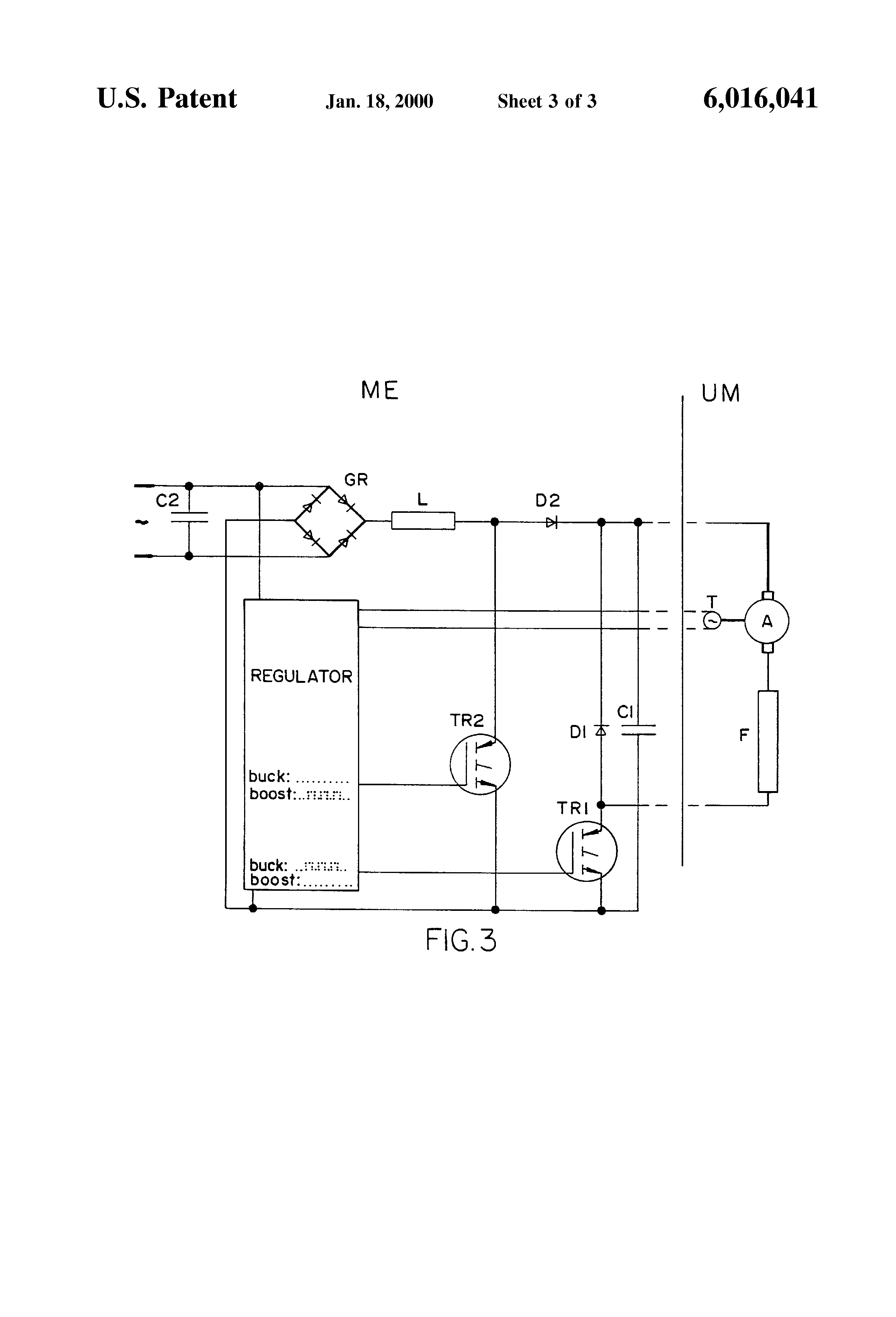 Patent us6016041 rotary speed control circuit for for Universal motor speed control circuit