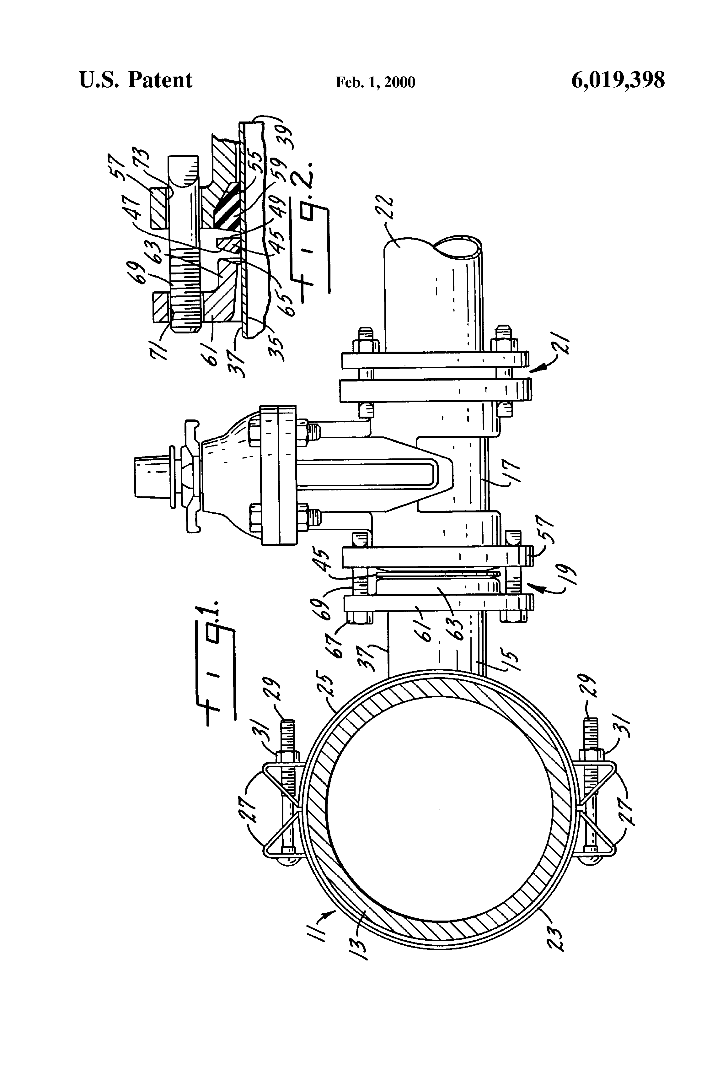 Patent us tapping sleeve with a gland google