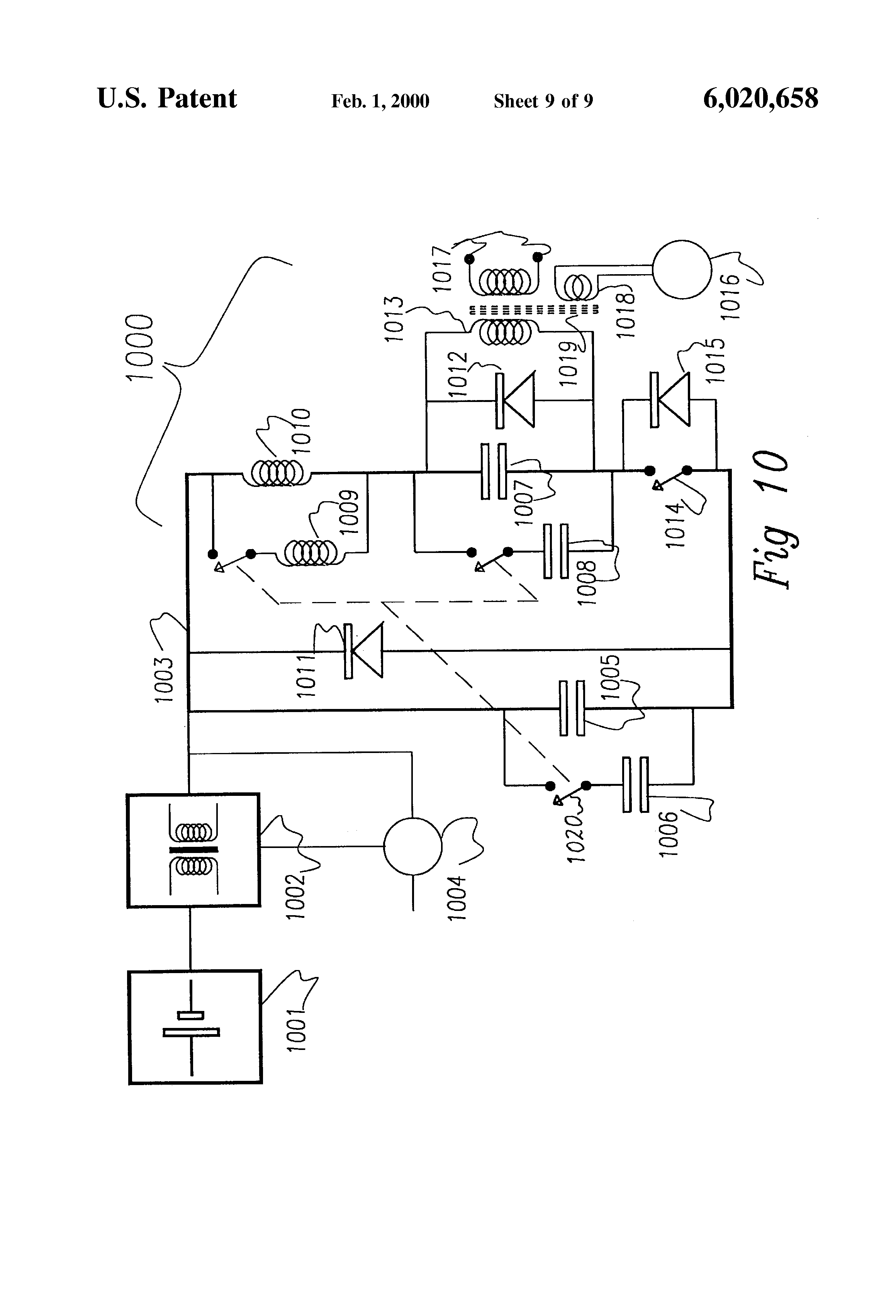 patent us6020658 - electric fence energizer