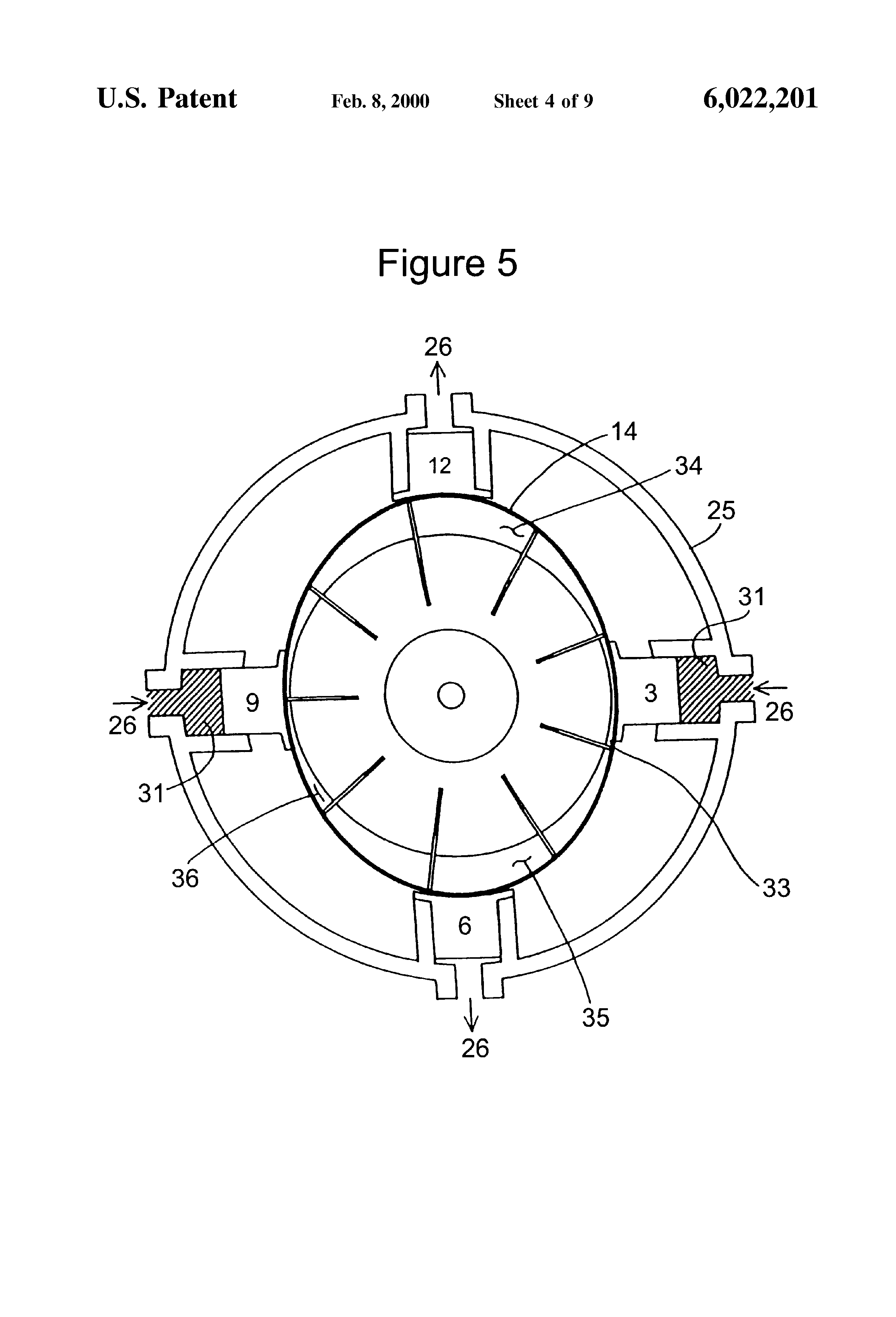Patent Us6022201 Hydraulic Vane Pump With Flexible Band Control Diagram Drawing