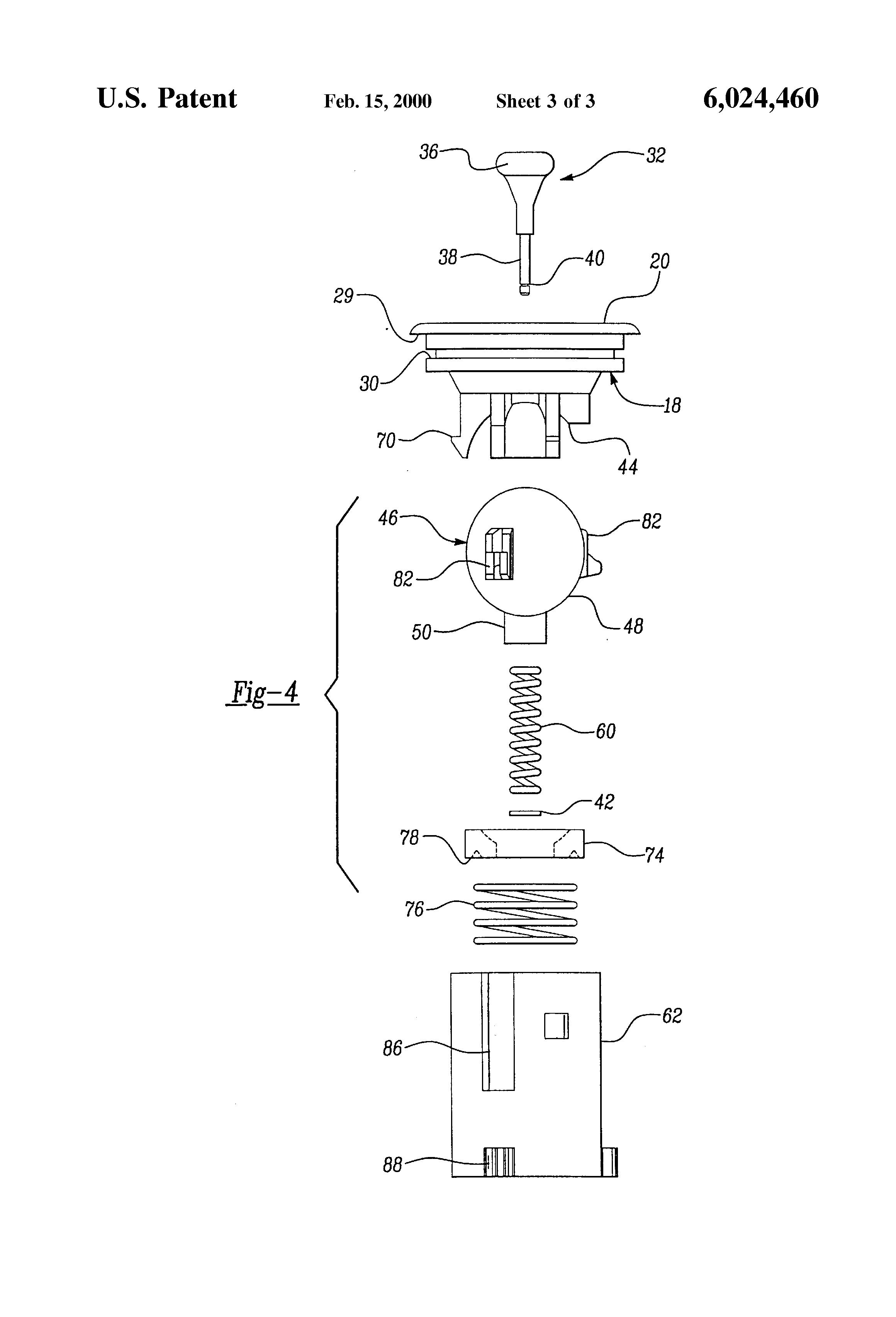 Patent US Remote mirror adjustment mechanism Google Patents