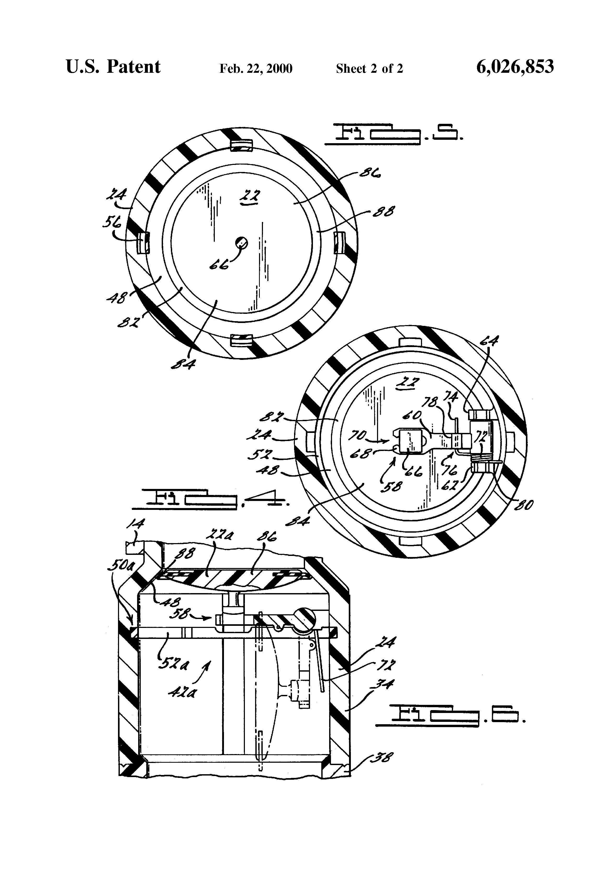 patent us6026853 - fuel tank filler neck check valve