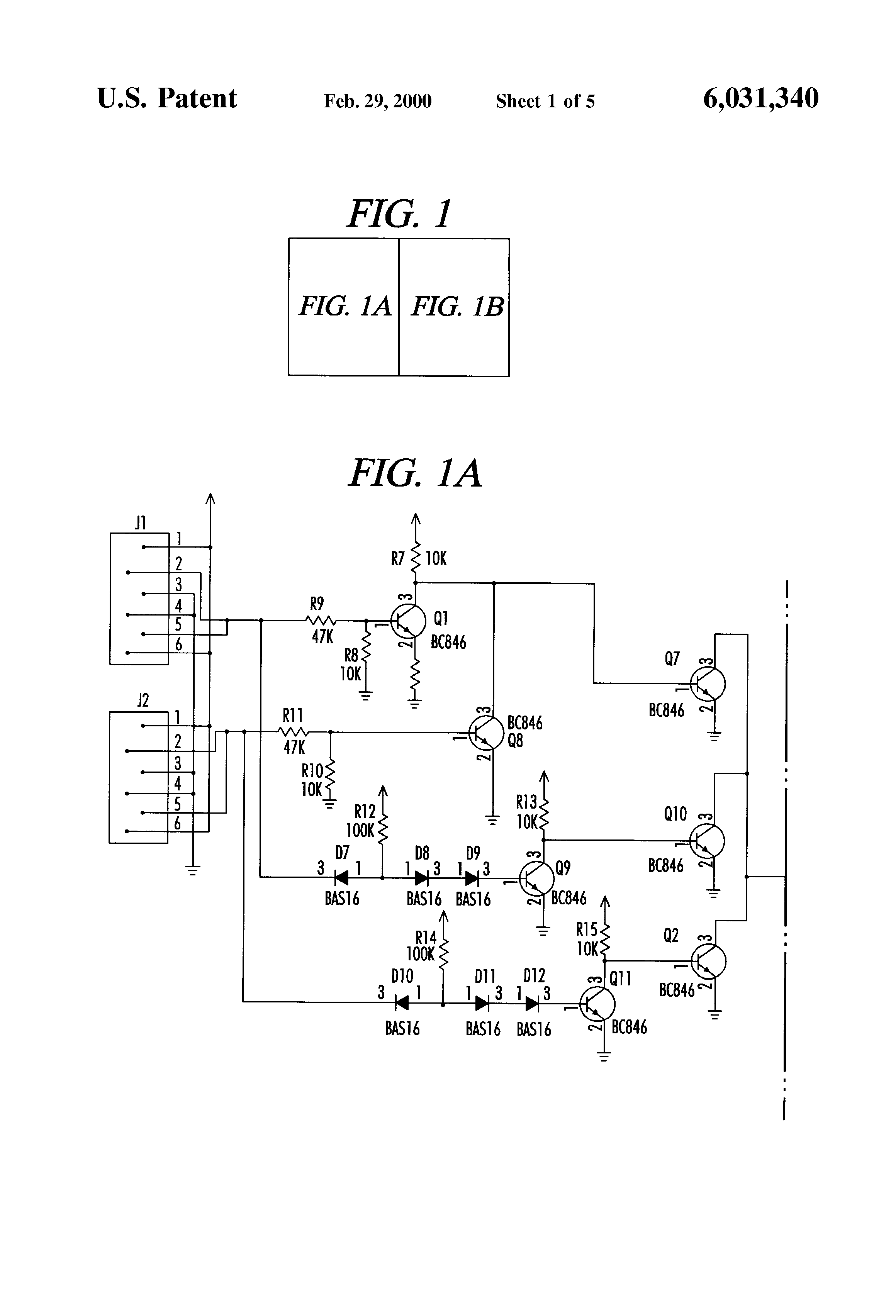 patent us6031340 device and method for capacitive bi level patent drawing
