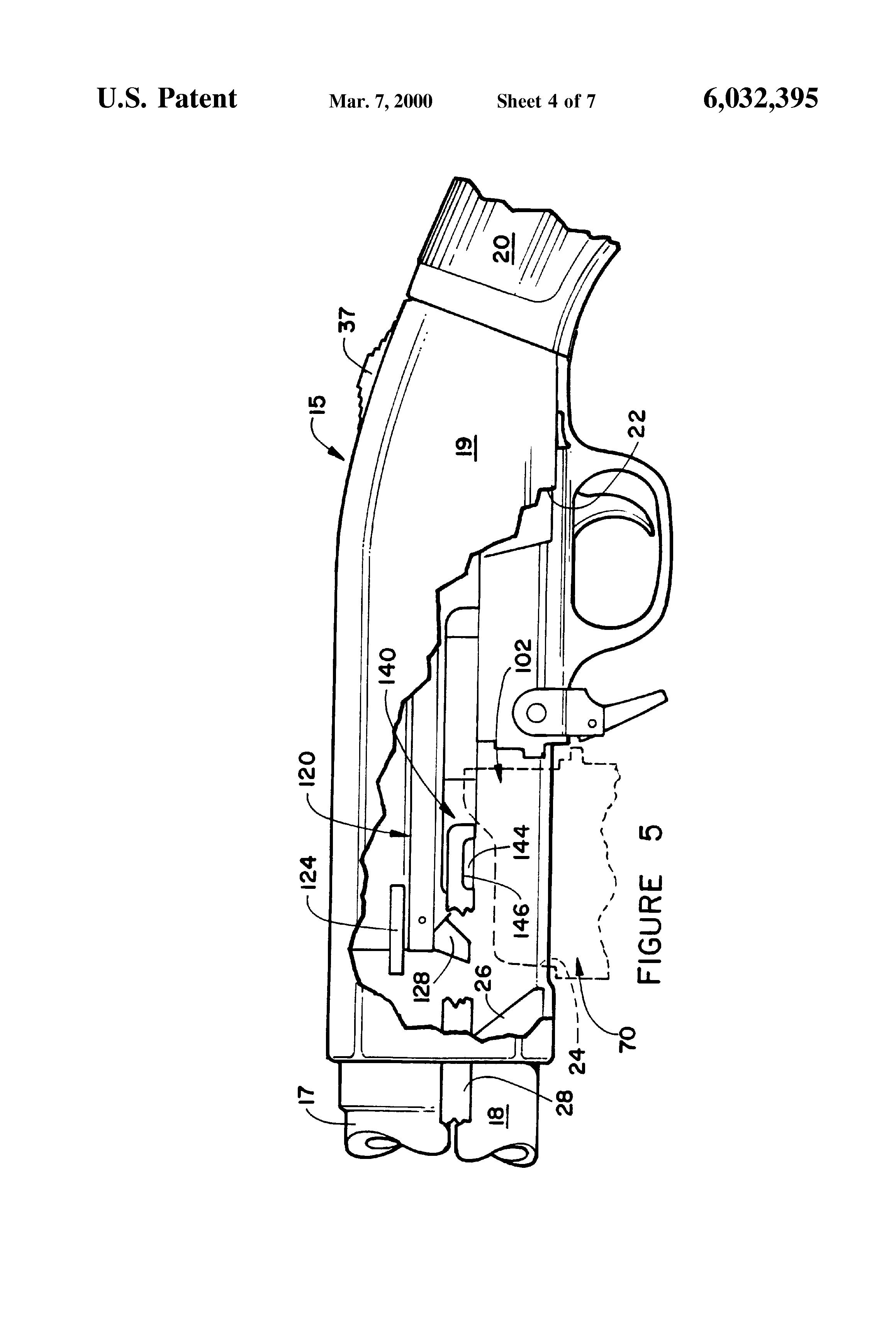 patent us6032395 - magazine loaded pump action shotgun
