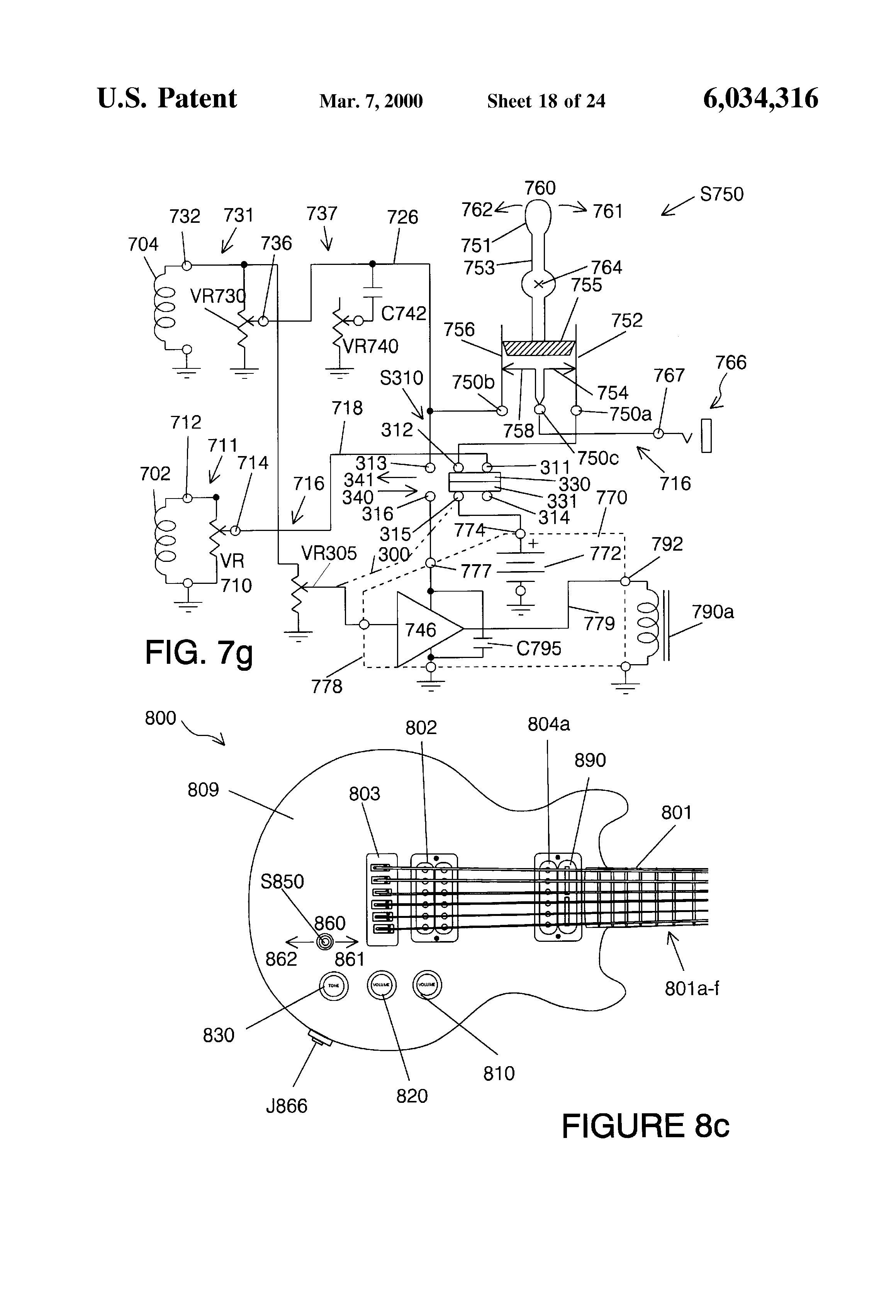 US6034316 19 patent us6034316 controls for musical instrument sustainers fernandes sustainer wiring diagram at creativeand.co
