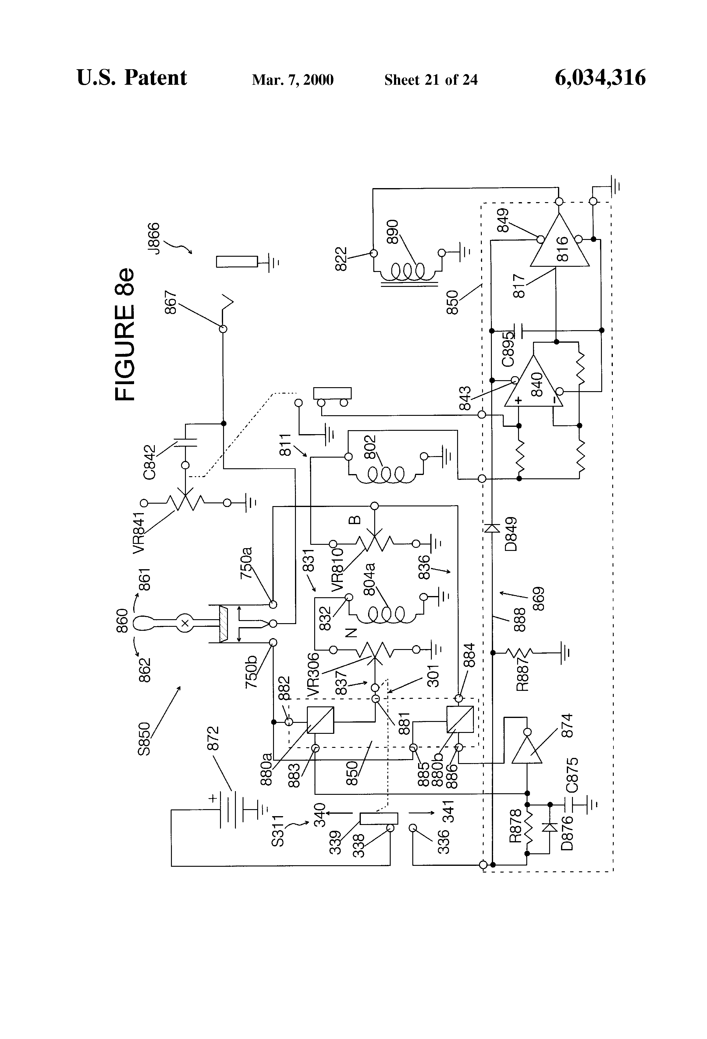US6034316 22 patent us6034316 controls for musical instrument sustainers fernandes sustainer wiring diagram at creativeand.co