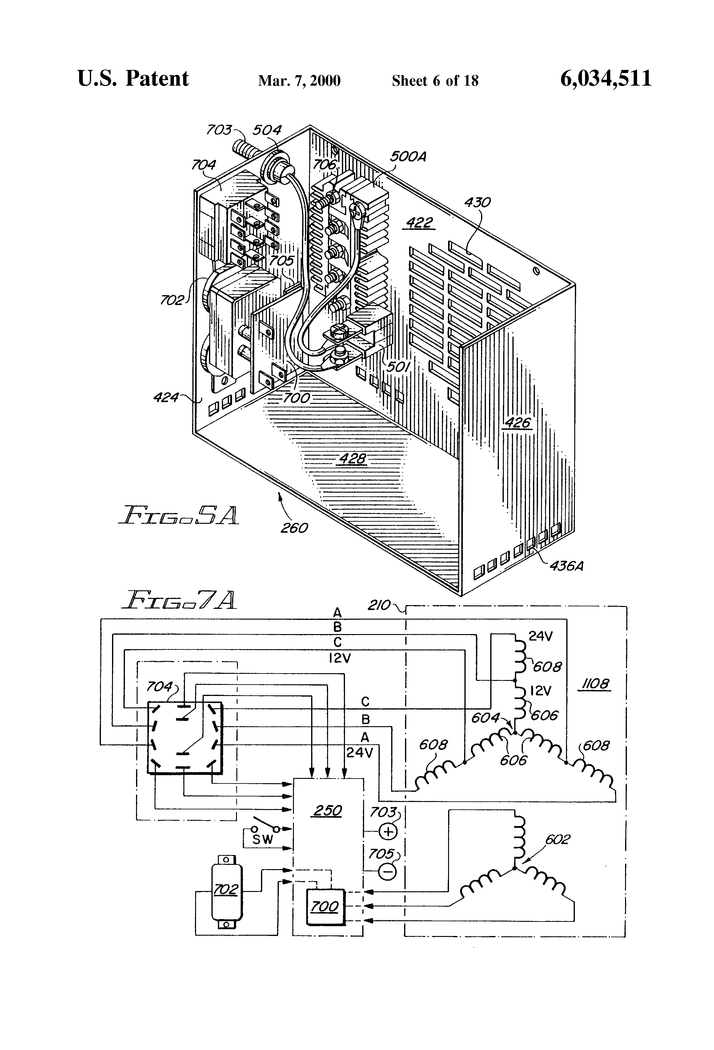 Patent Us6034511 Light Weight Rotor And Stator With Multiple Coil Everlast Wiring Diagram Drawing